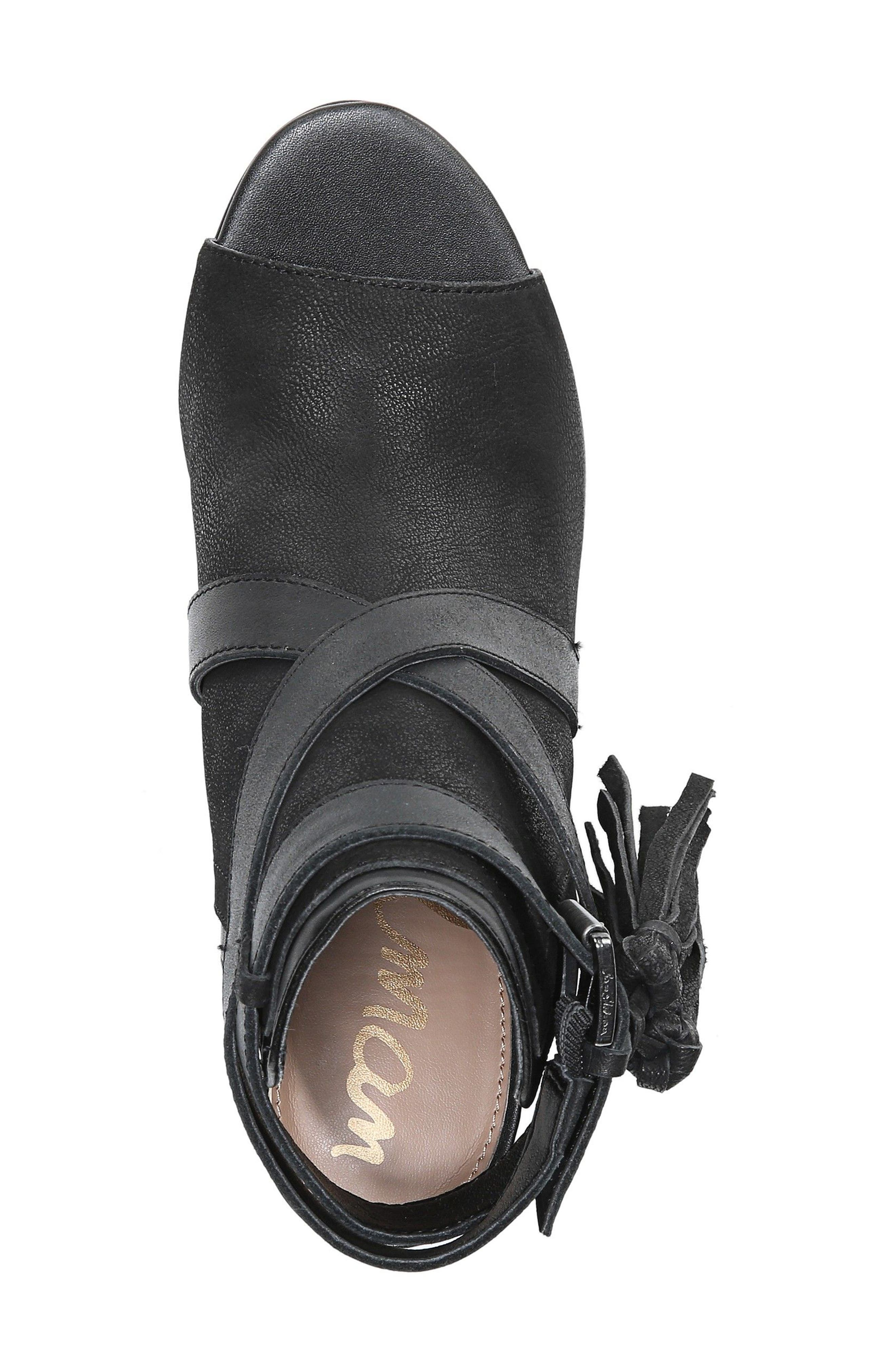 Vermont Block Heel Sandal,                             Alternate thumbnail 5, color,                             001