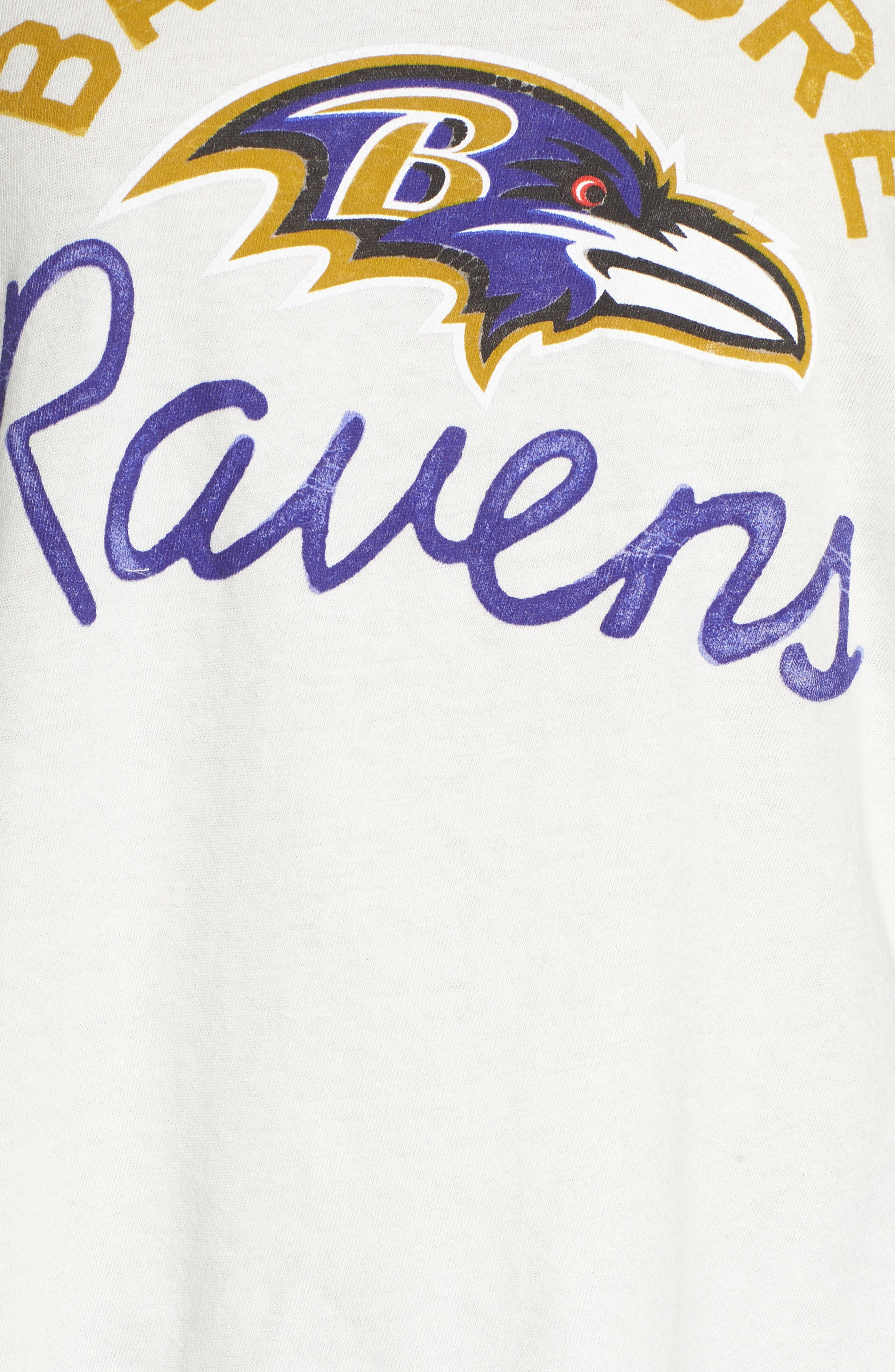 NFL Baltimore Ravens Raglan Tee,                             Alternate thumbnail 5, color,                             189