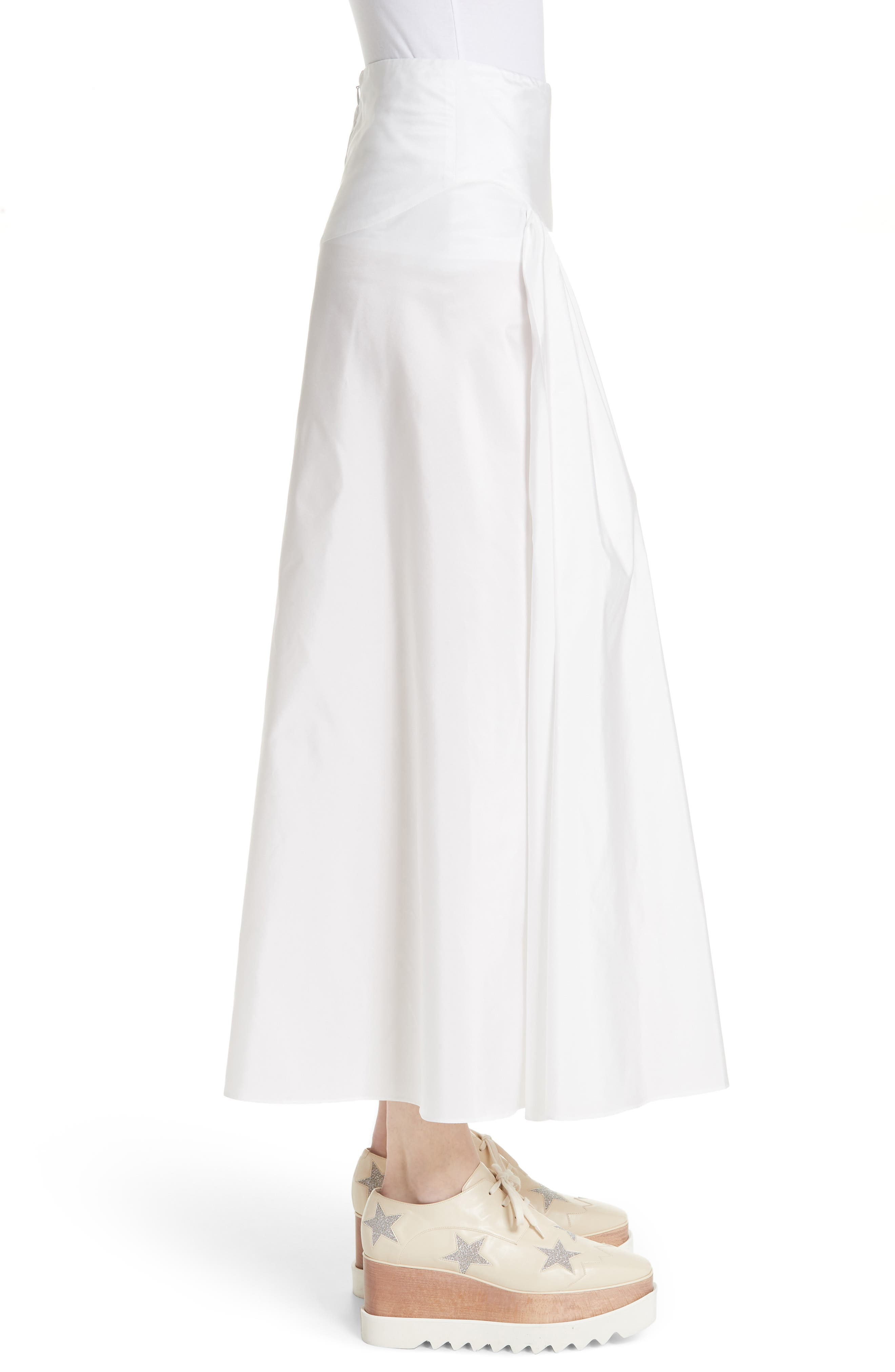 Taffeta Maxi Skirt,                             Alternate thumbnail 3, color,                             100