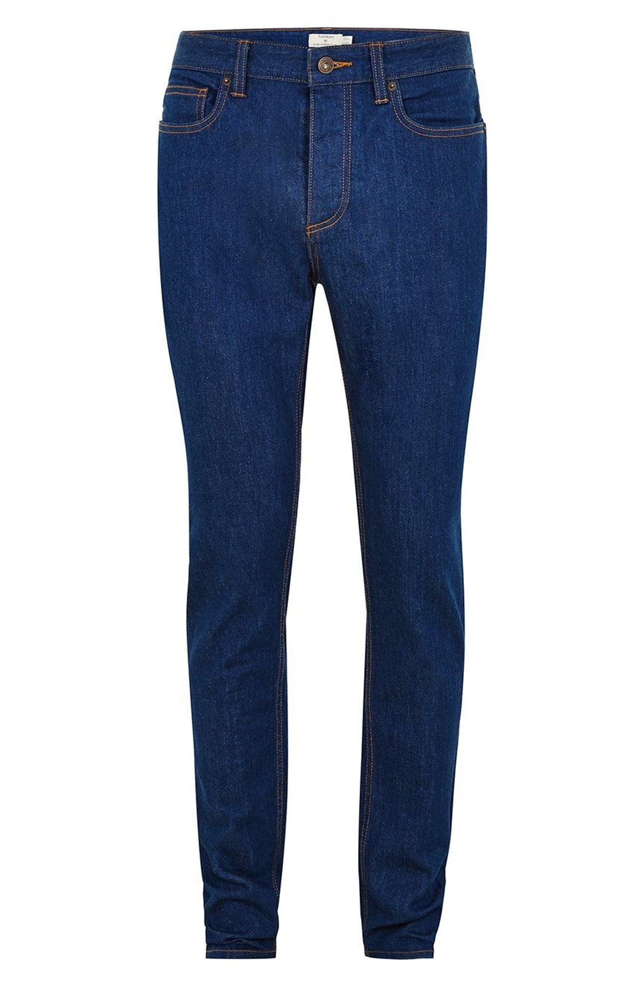 Stretch Skinny Fit Jeans,                             Alternate thumbnail 4, color,                             400