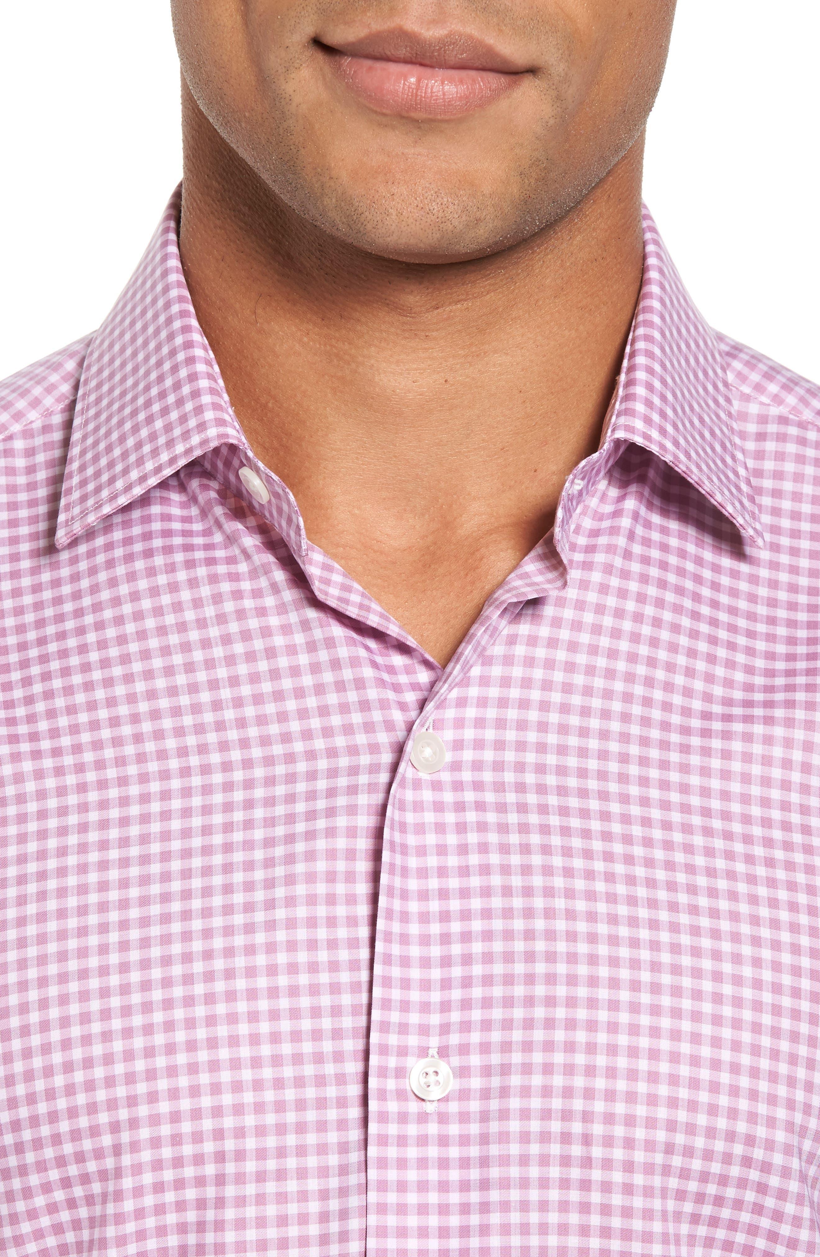 Slim Fit Check Twill Sport Shirt,                             Alternate thumbnail 4, color,
