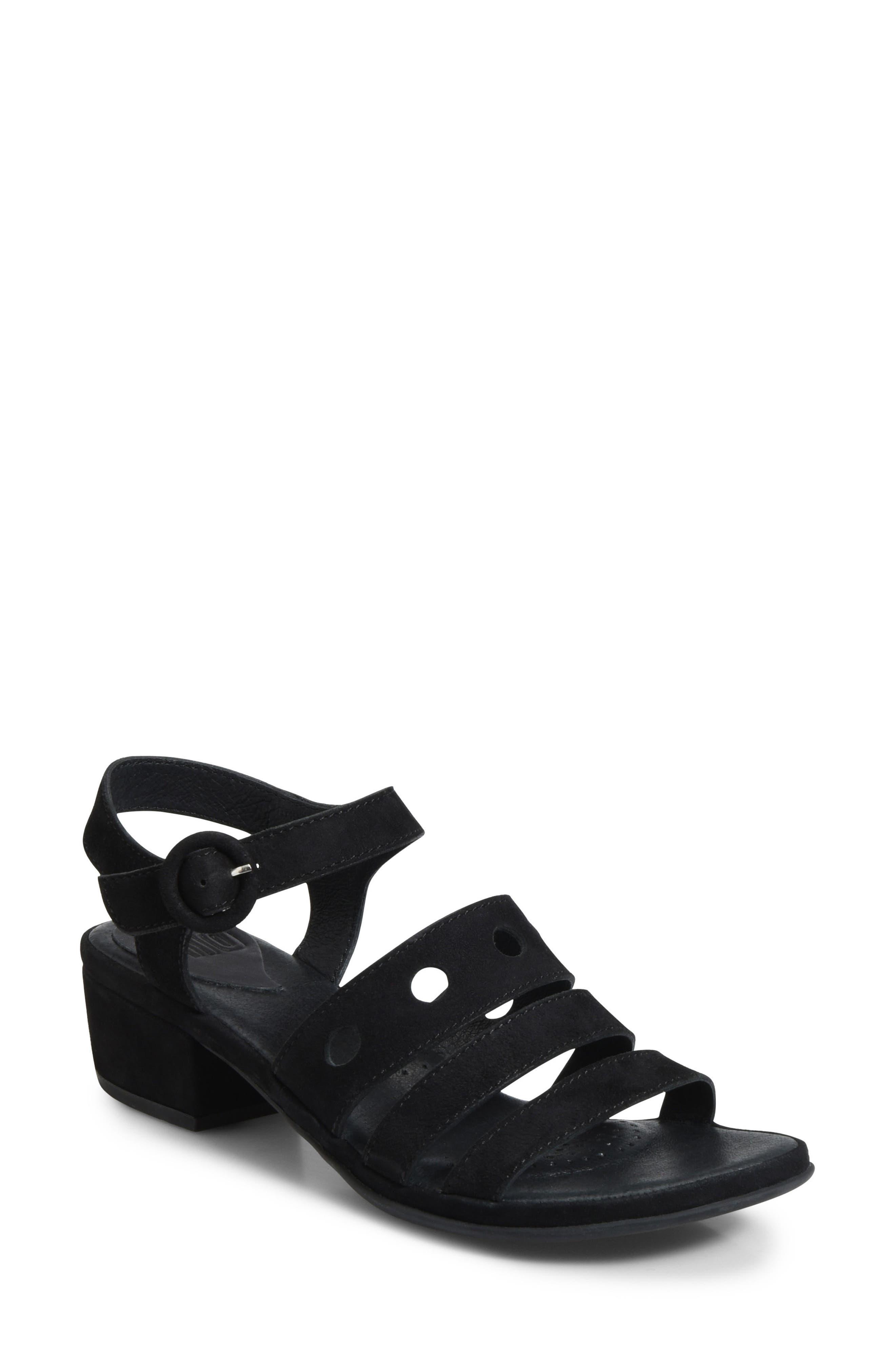 Becka Sandal,                         Main,                         color, BLACK SUEDE