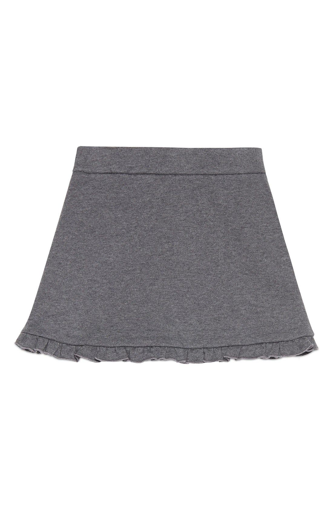 Ruffle Jersey Skirt,                             Alternate thumbnail 2, color,                             027