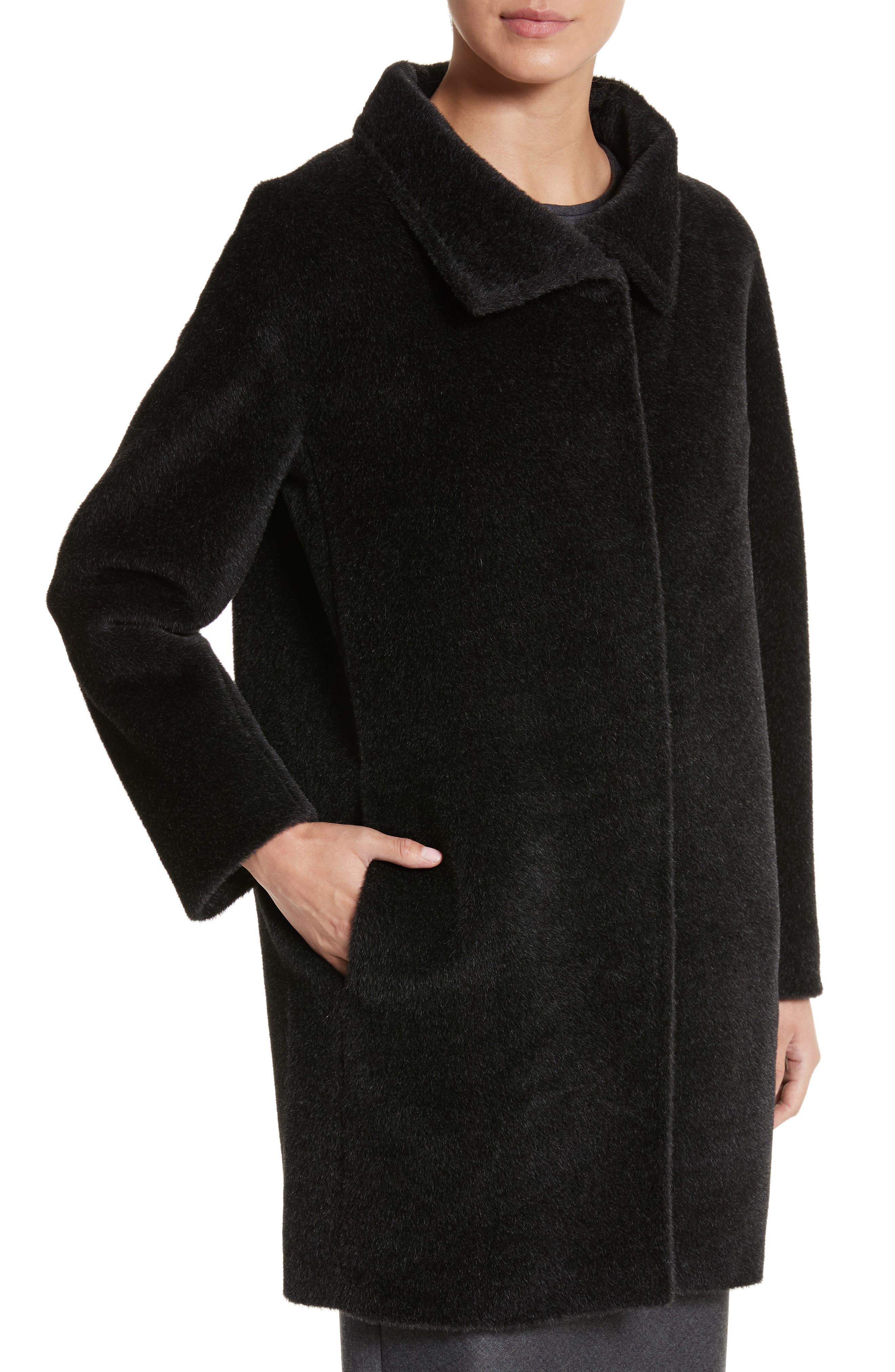 Alpaca & Wool Coat,                             Alternate thumbnail 4, color,                             024