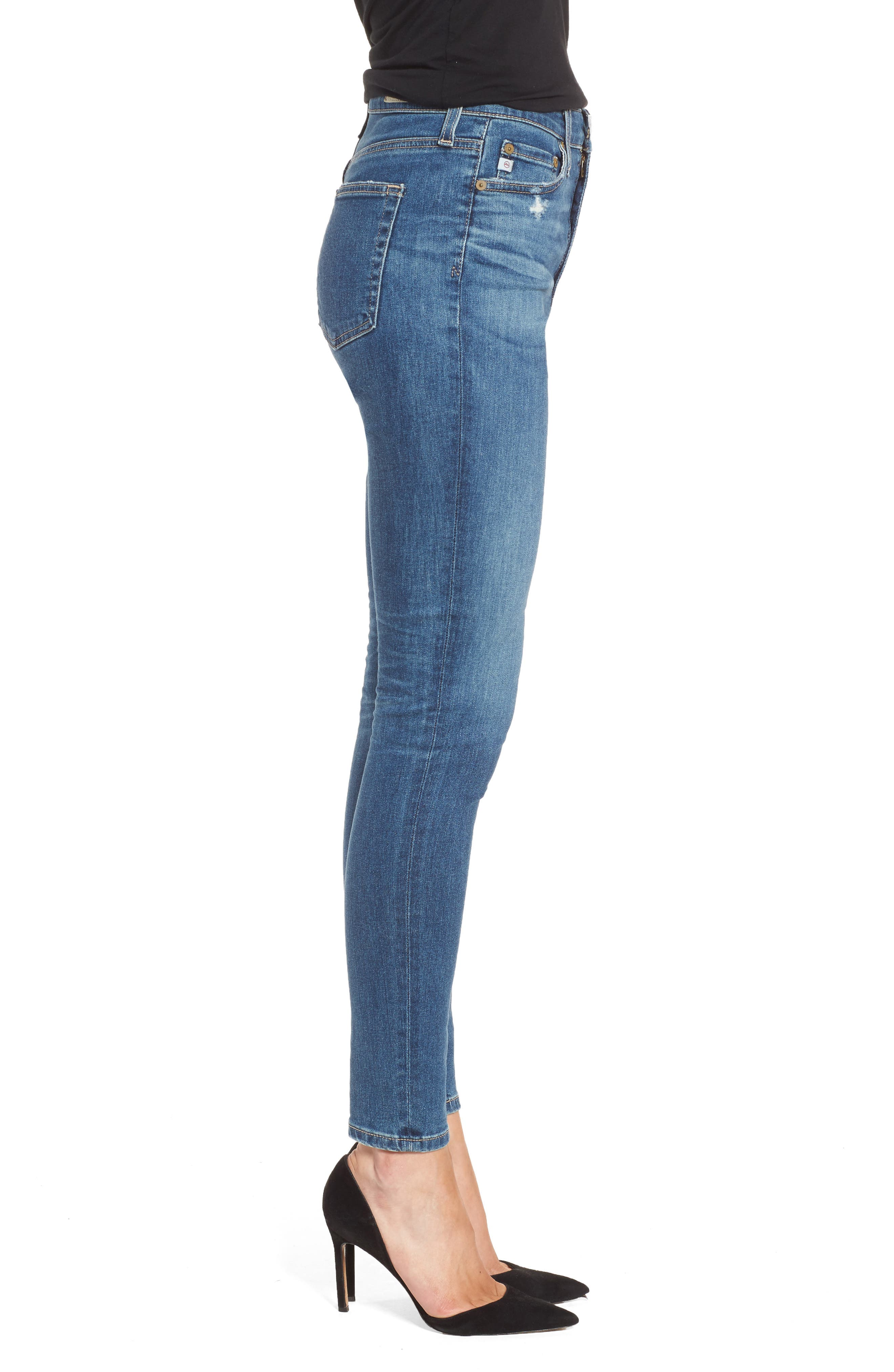Mila Ankle Skinny Jeans,                             Alternate thumbnail 3, color,                             8 YEARS INFAMY