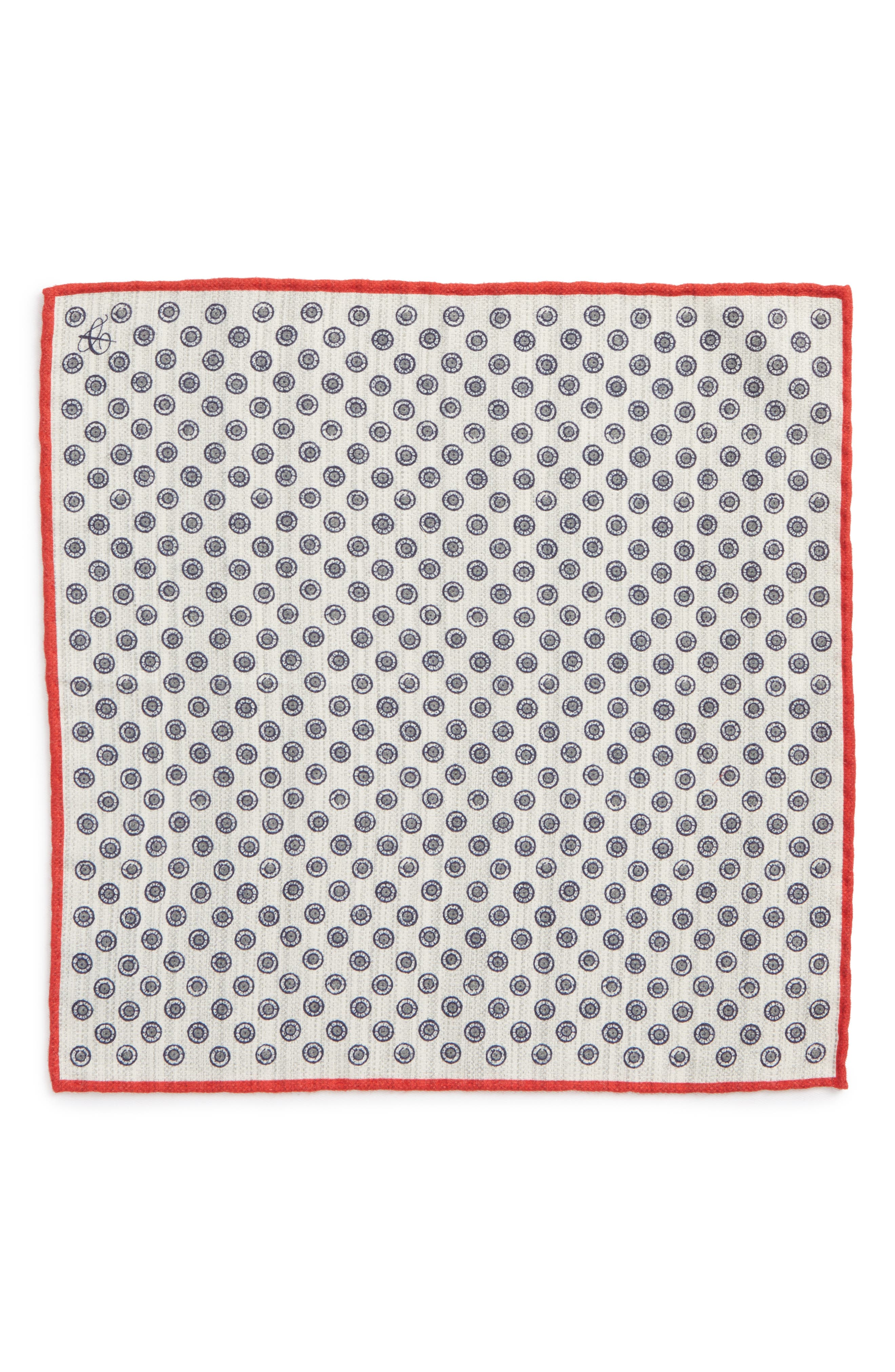 Medallion Pocket Square,                             Alternate thumbnail 2, color,                             020