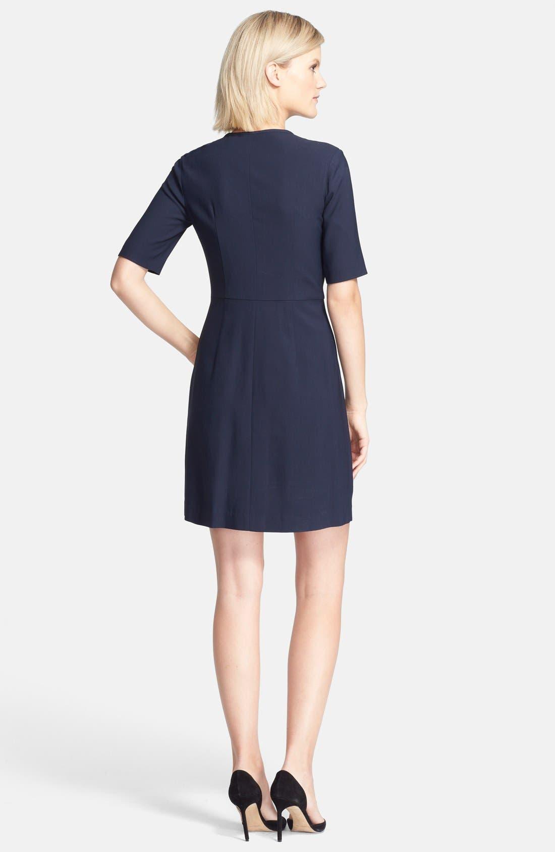 THEORY,                             'Slyra' Quarter Zip A-Line Dress,                             Alternate thumbnail 2, color,                             410