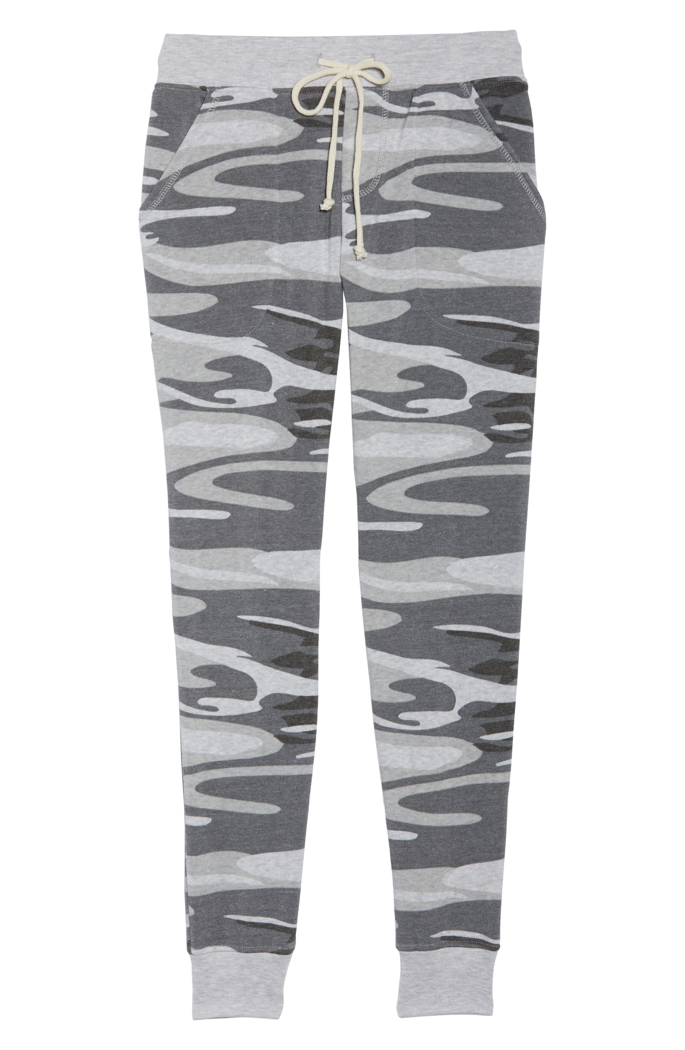 Camo Print Fleece Jogger Pants,                             Alternate thumbnail 6, color,                             035