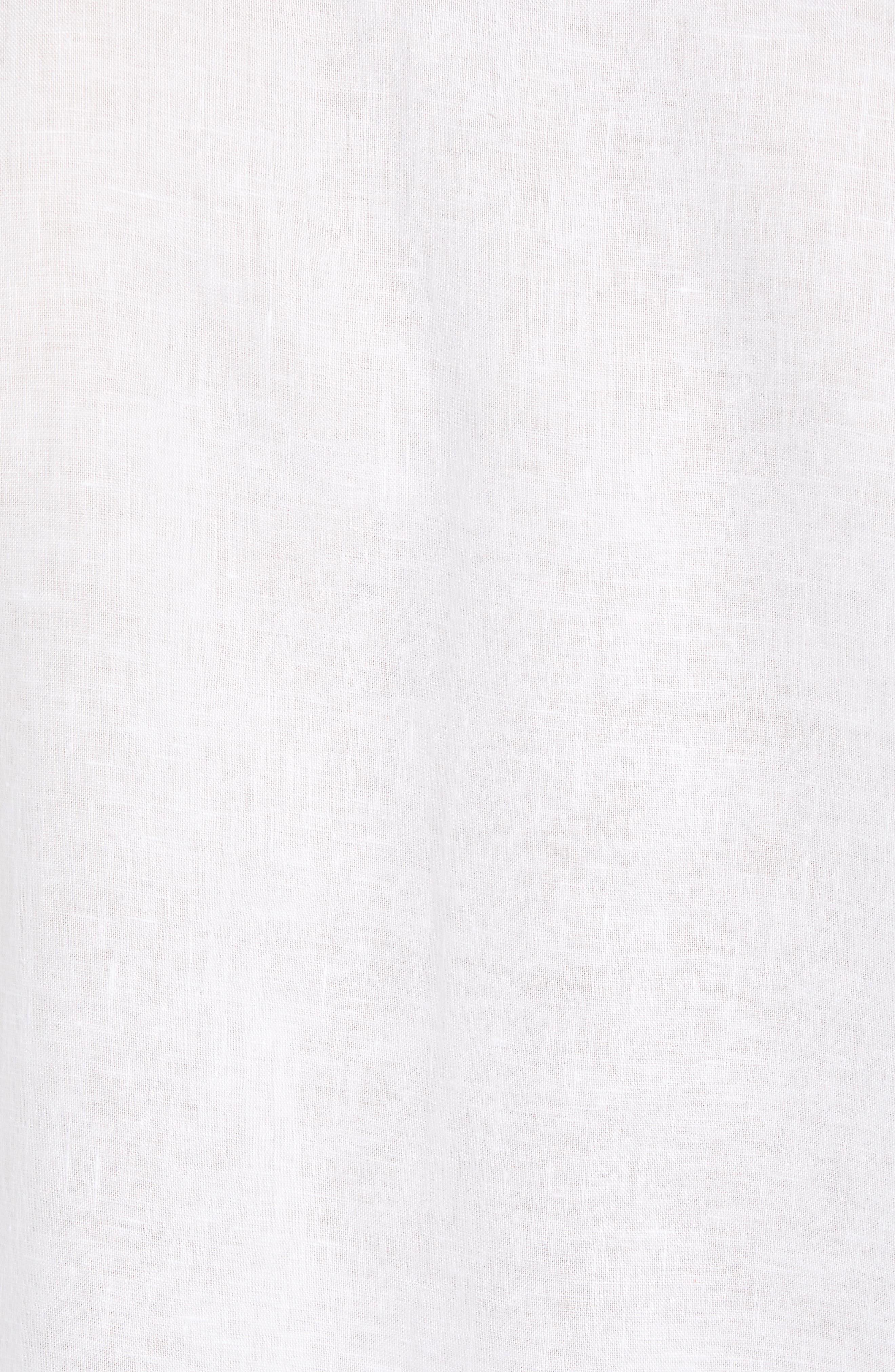 Get Your Groom On Linen Sport Shirt,                             Alternate thumbnail 5, color,                             WHITE