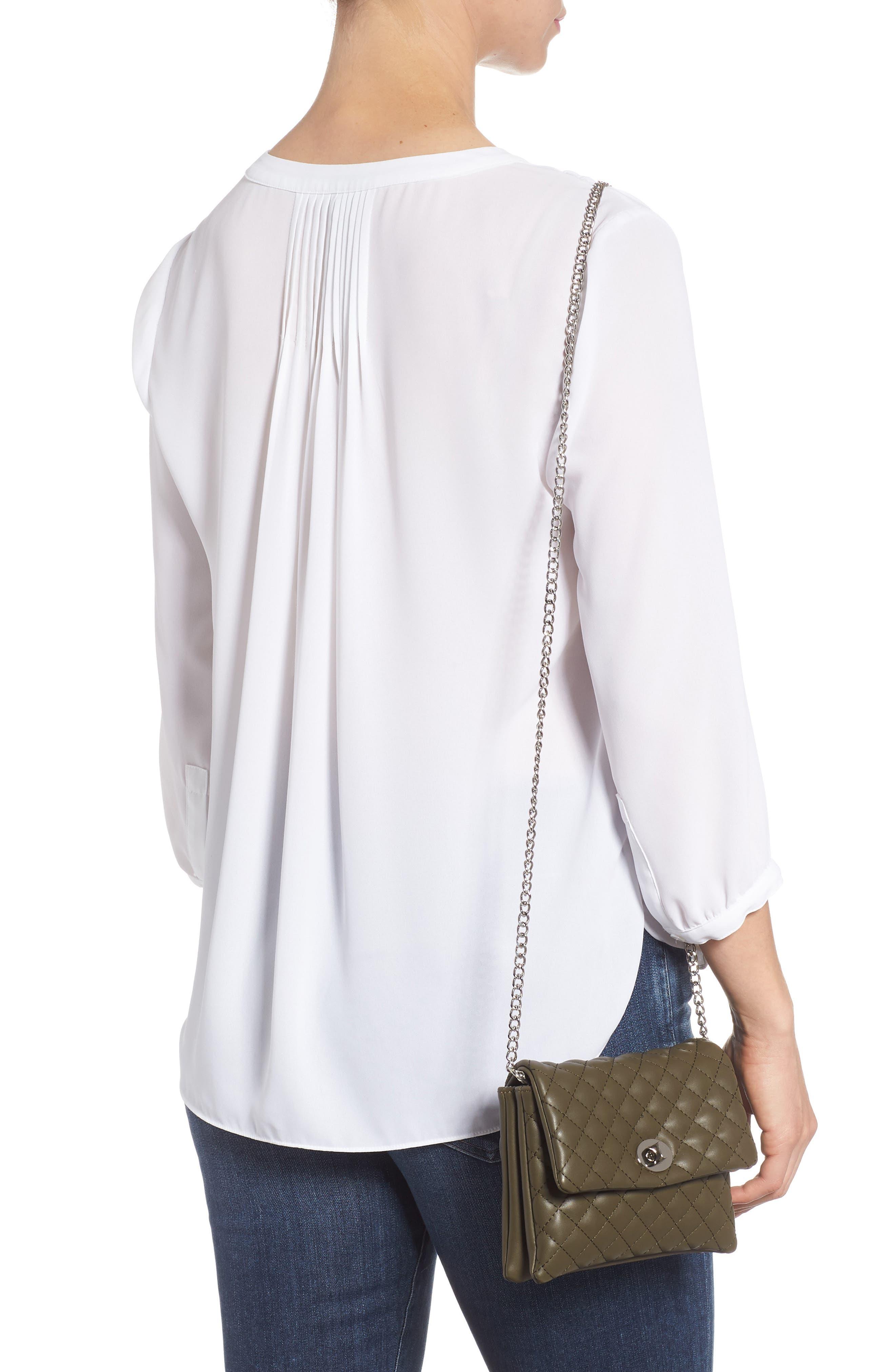 Mali + Lili Quilted Vegan Leather Convertible Belt Bag,                             Alternate thumbnail 9, color,                             OLIVE