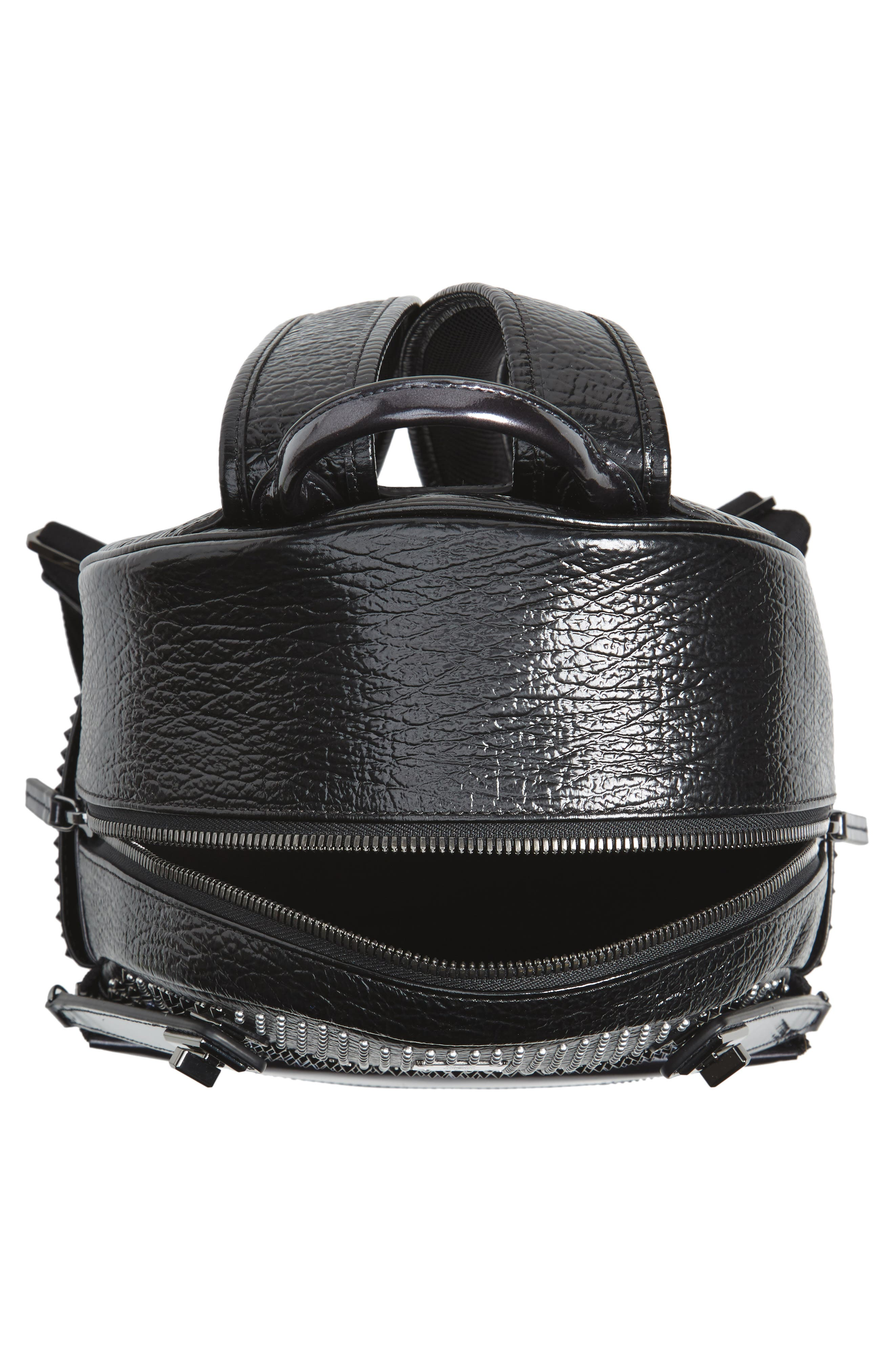 Dual Stark Studded Leather Backpack,                             Alternate thumbnail 7, color,