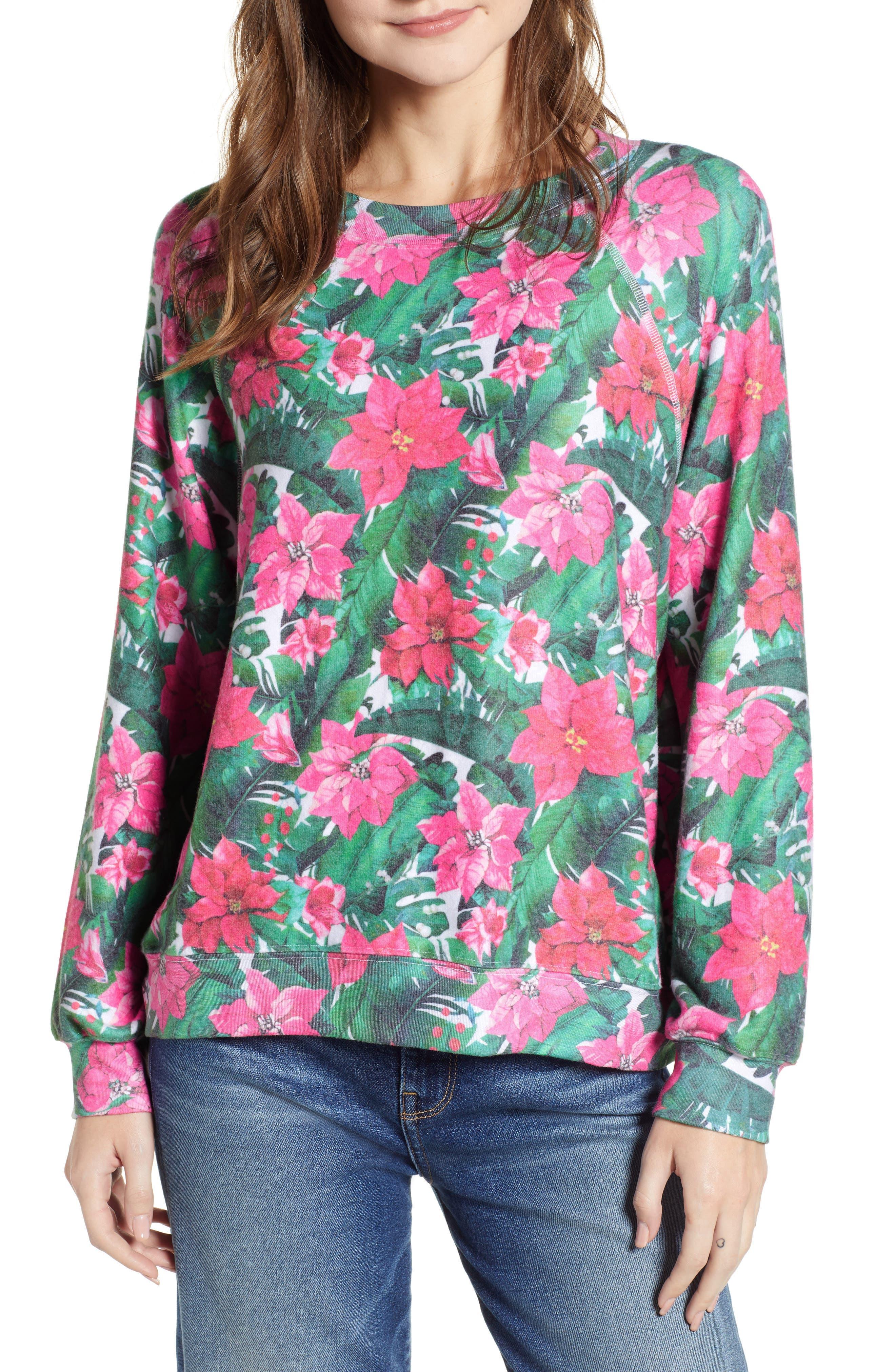 Island Holiday Sommers Sweatshirt,                             Main thumbnail 1, color,                             MULTI