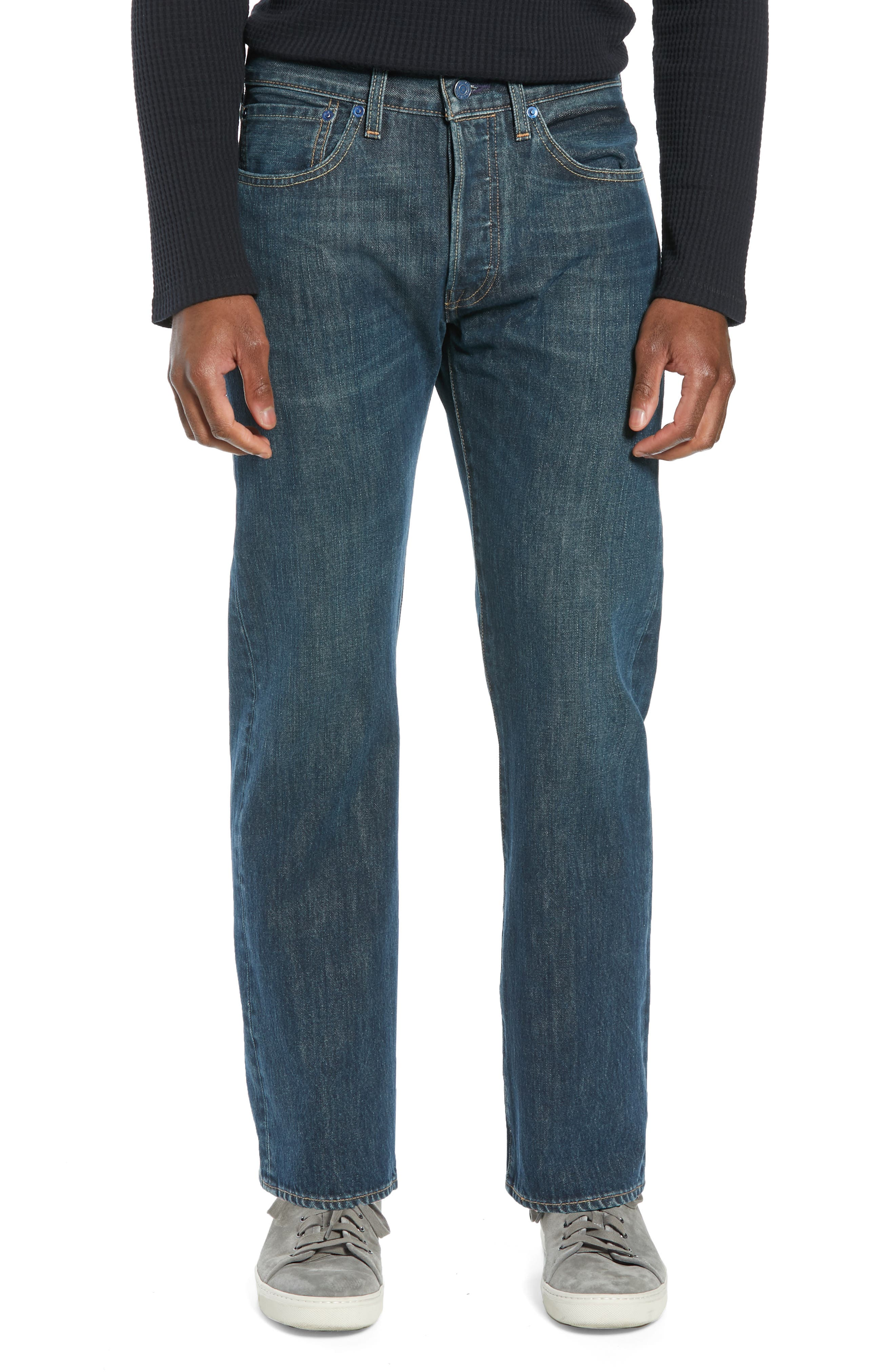 501<sup>®</sup> Straight Leg Jeans,                         Main,                         color, SNOOT