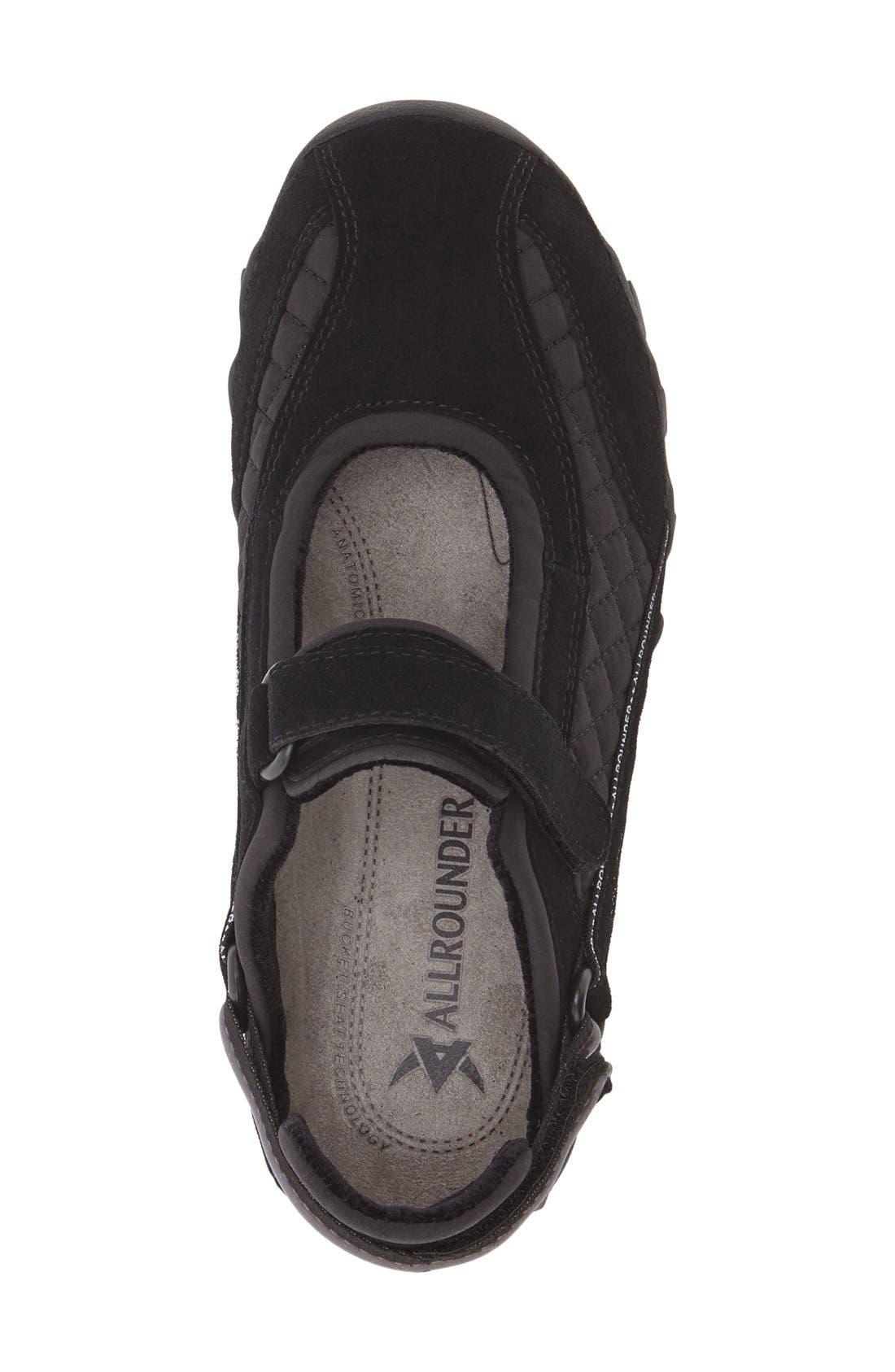 'Niro' Athletic Shoe,                             Alternate thumbnail 3, color,                             BLACK/ BLACK SUEDE