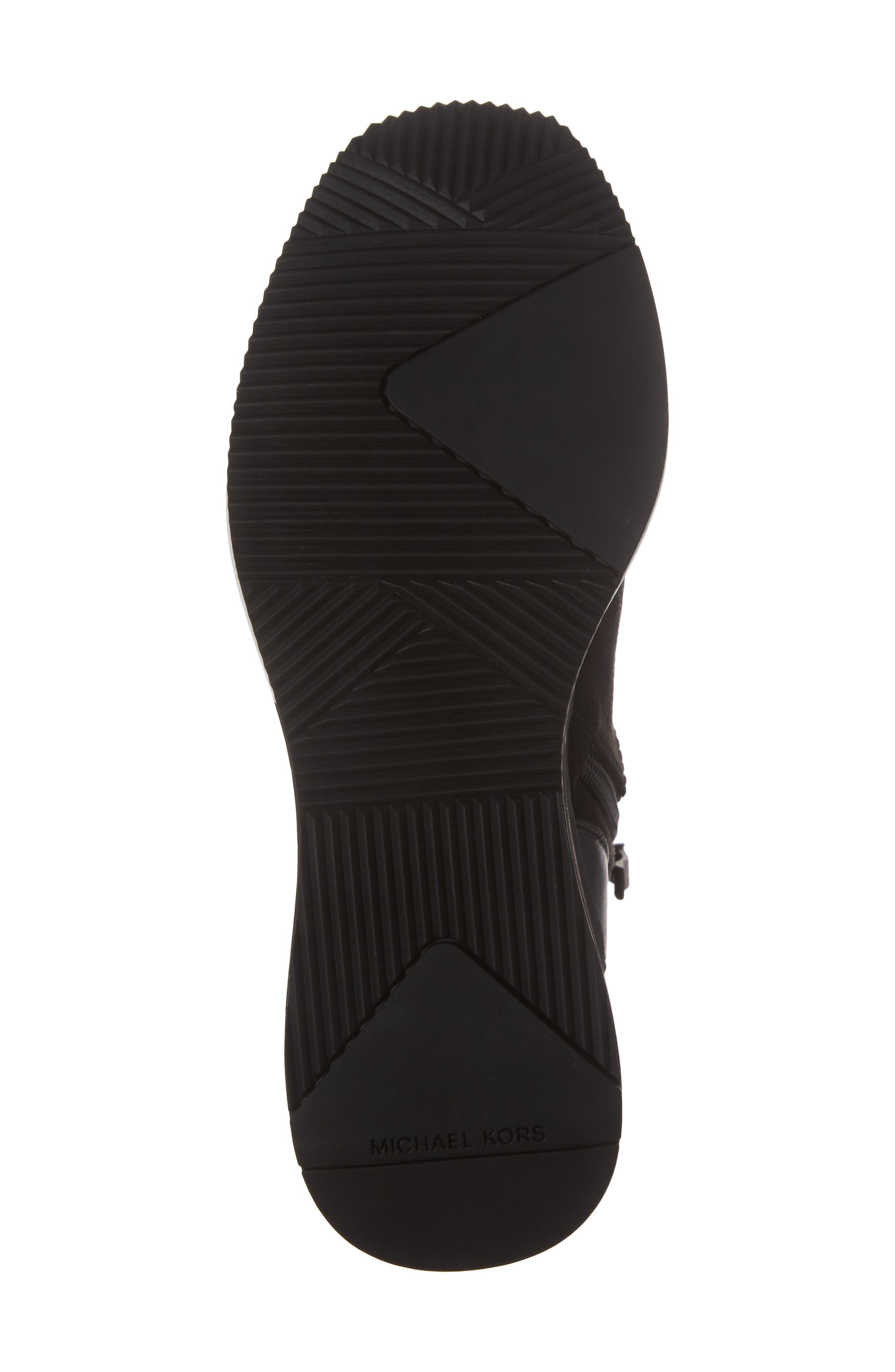 'Ace' Wedge Sneaker Bootie,                             Alternate thumbnail 6, color,                             BLACK SUEDE