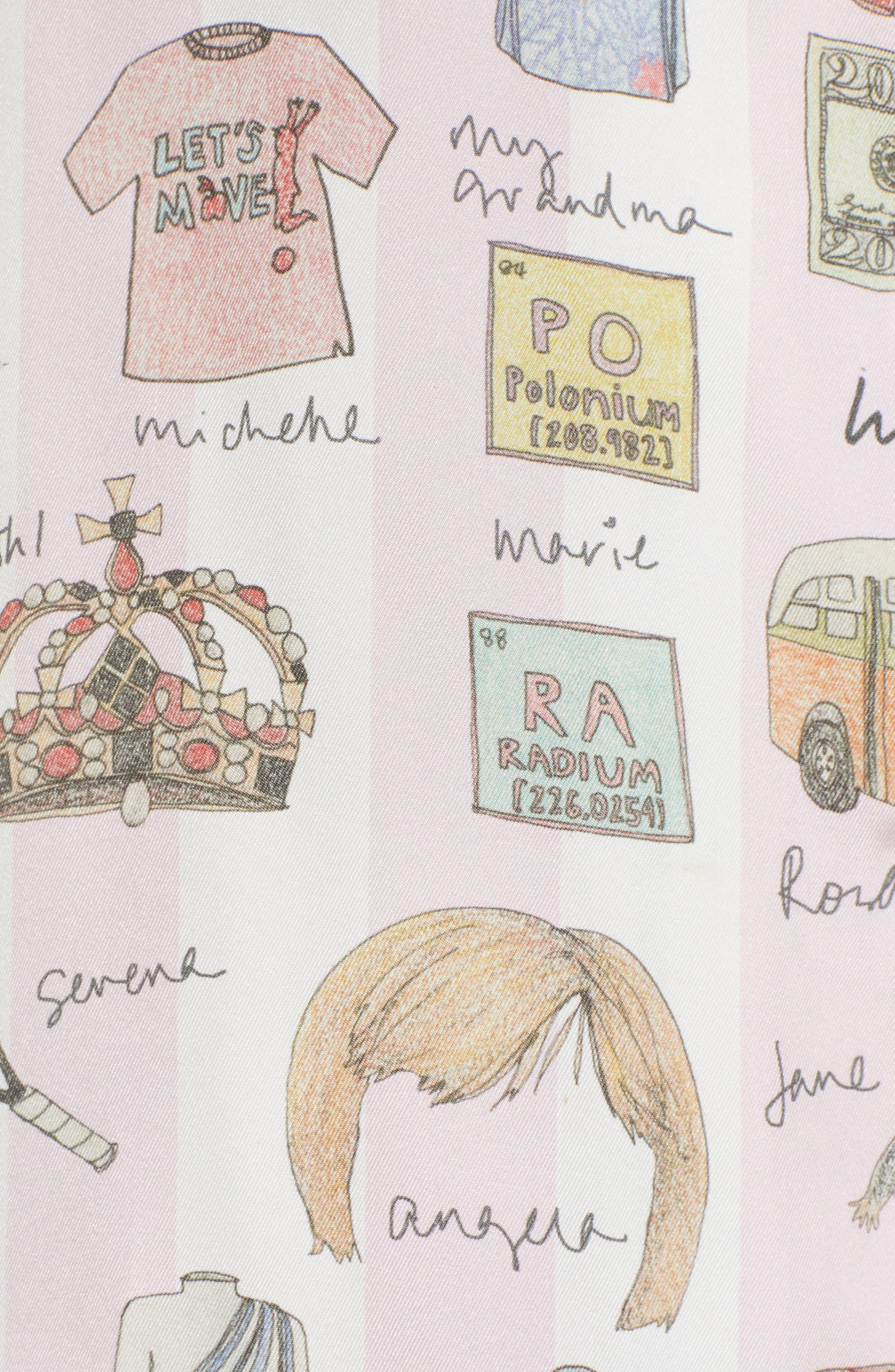 History, She Wrote Pajamas & Eye Mask,                             Alternate thumbnail 5, color,                             PINK