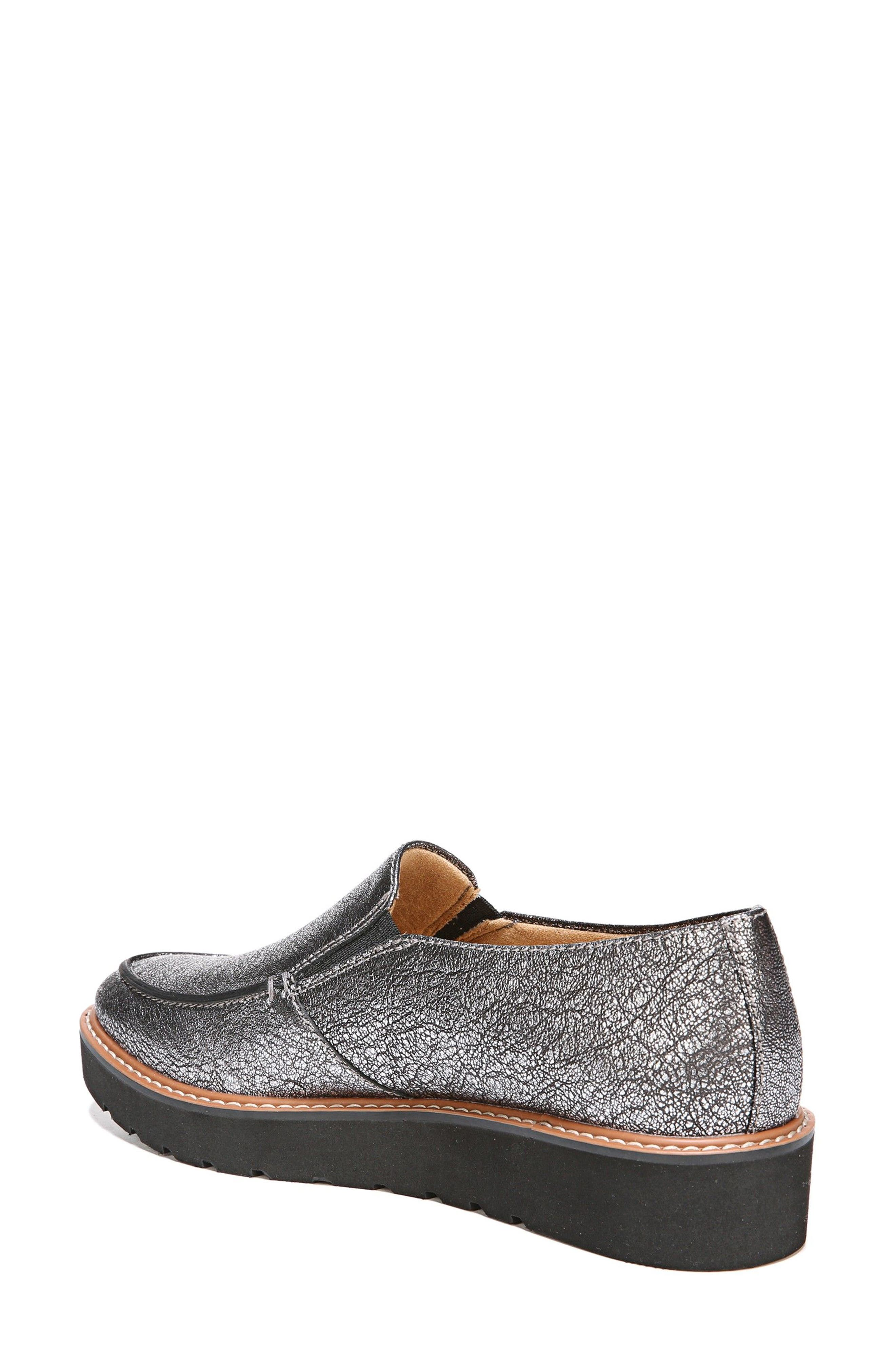 Aibileen Loafer,                             Alternate thumbnail 2, color,                             SILVER LEATHER