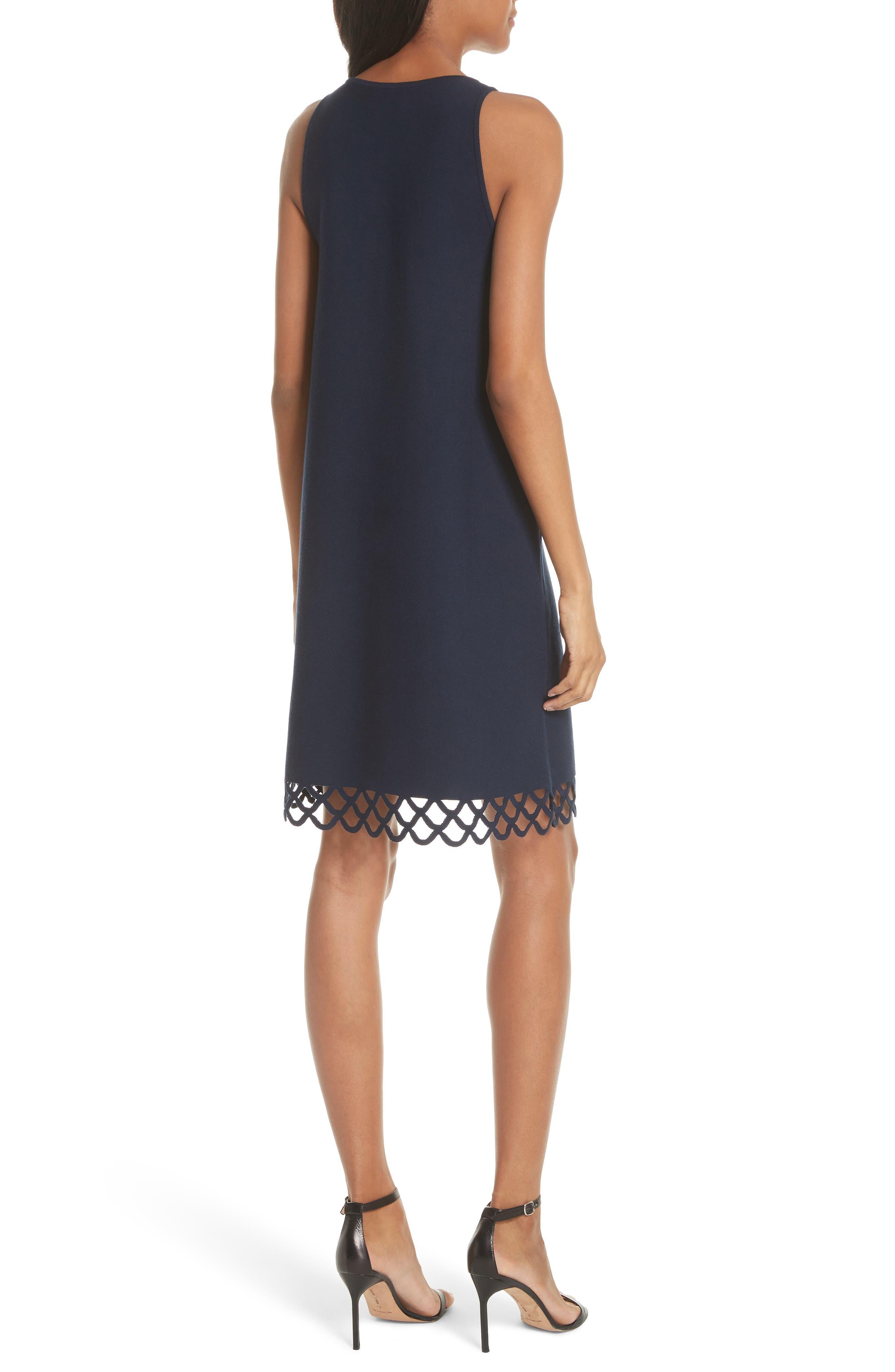 Scallop Hem Shift Dress,                             Alternate thumbnail 2, color,                             410