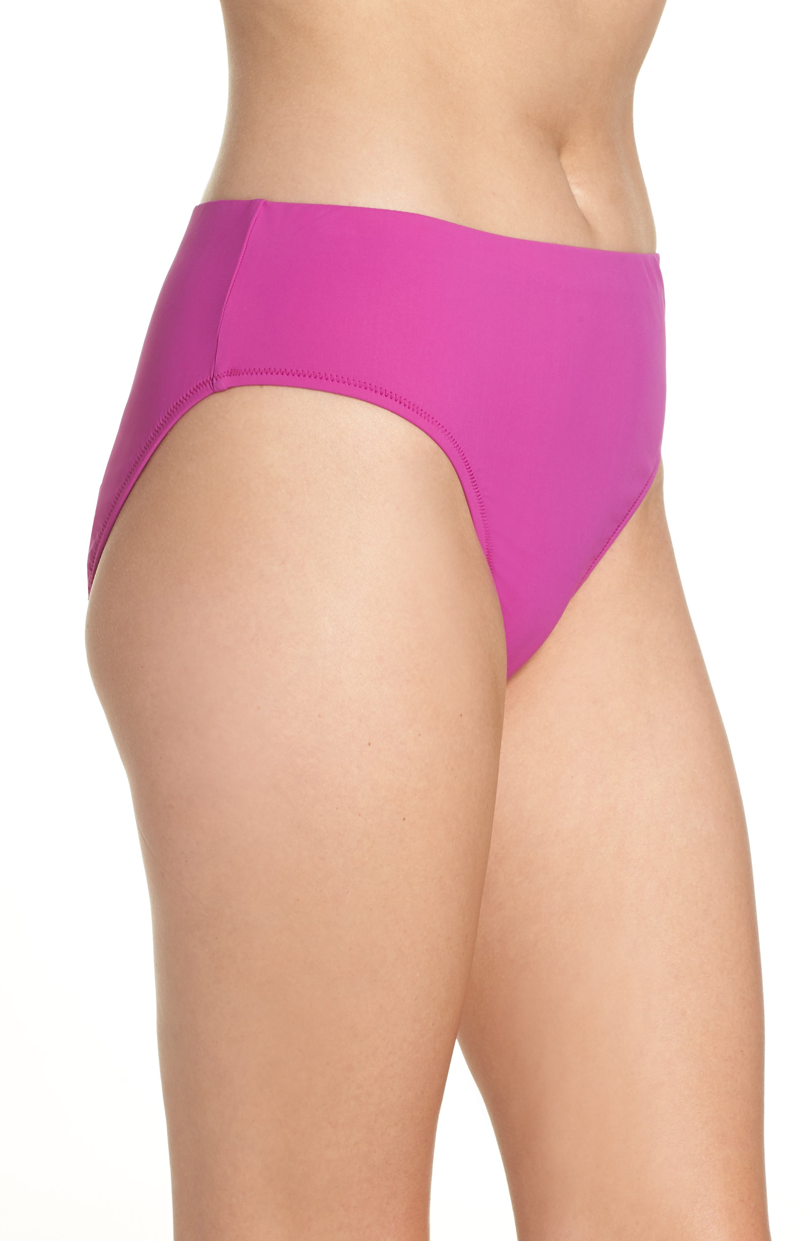 Bikini Bottoms,                             Alternate thumbnail 3, color,                             WARM VIOLA