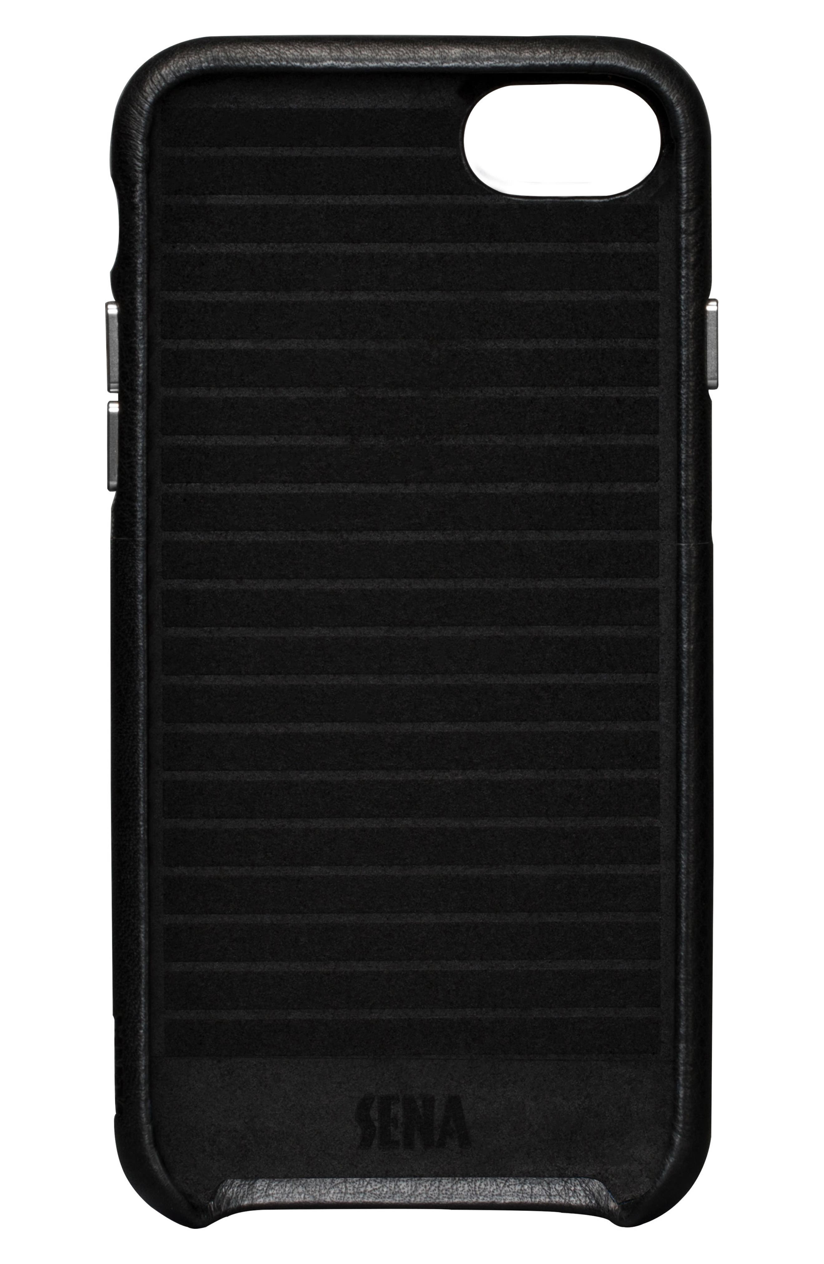 iPhone 7/8 Snap Wallet Case,                             Alternate thumbnail 2, color,                             BLACK