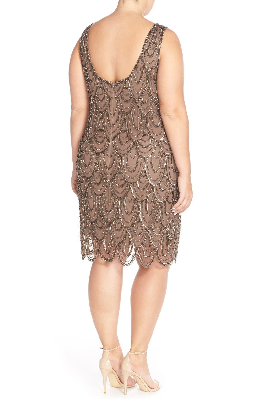 Beaded Sheath Dress,                             Alternate thumbnail 53, color,