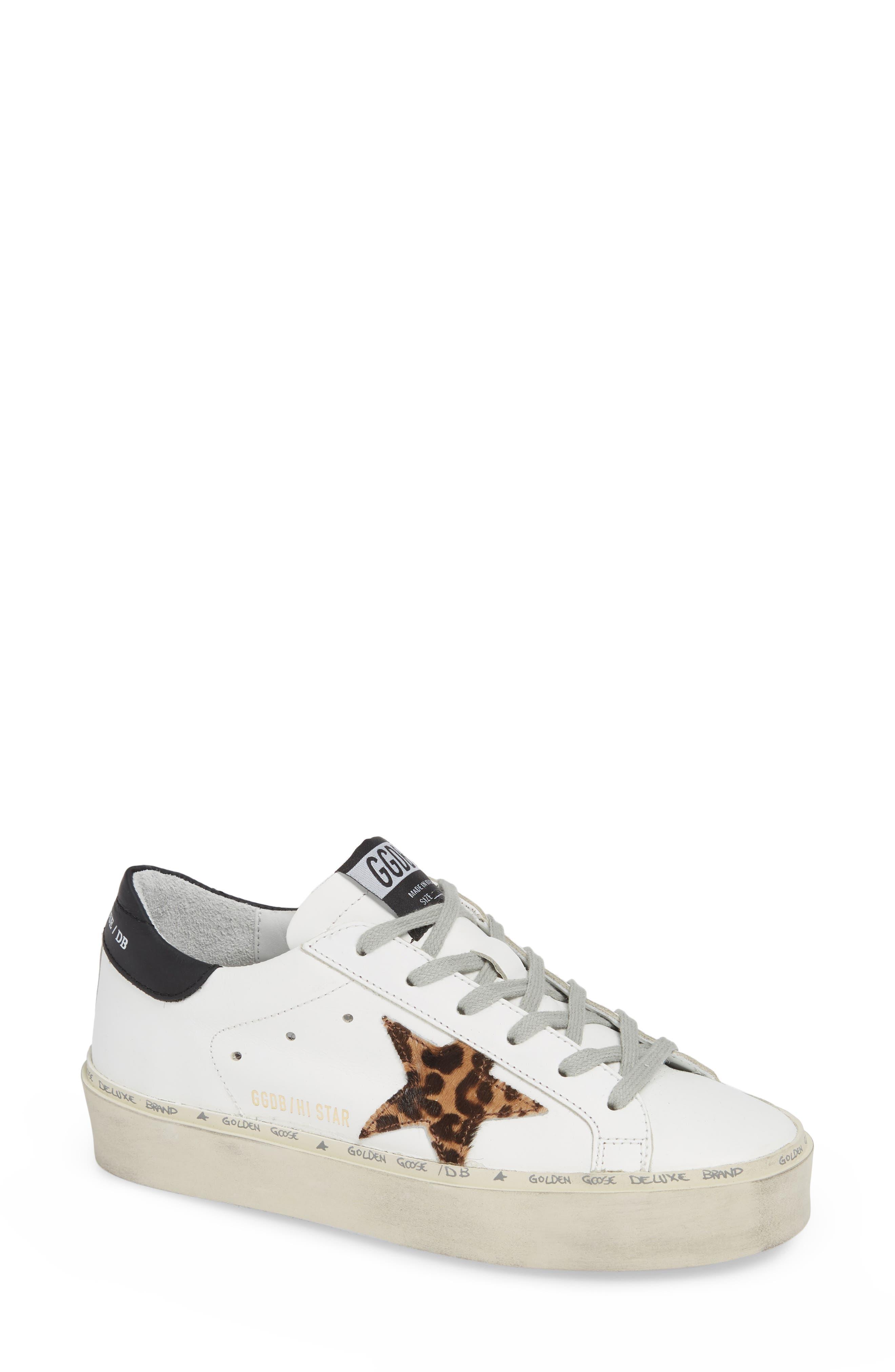 Hi Star Genuine Calf Hair Platform Sneaker,                         Main,                         color, 100
