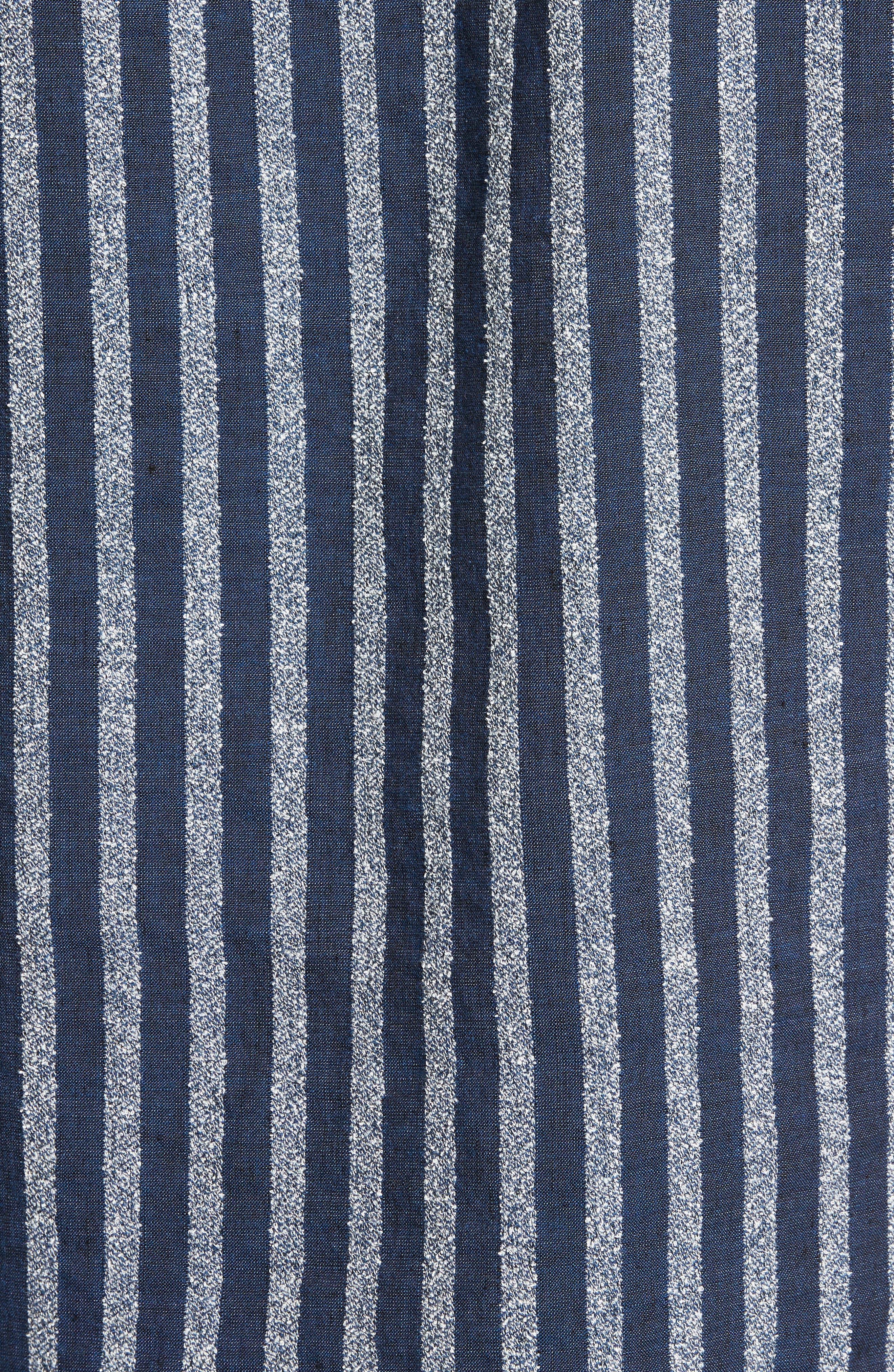 Stripe Woven Shirt,                             Alternate thumbnail 5, color,                             100