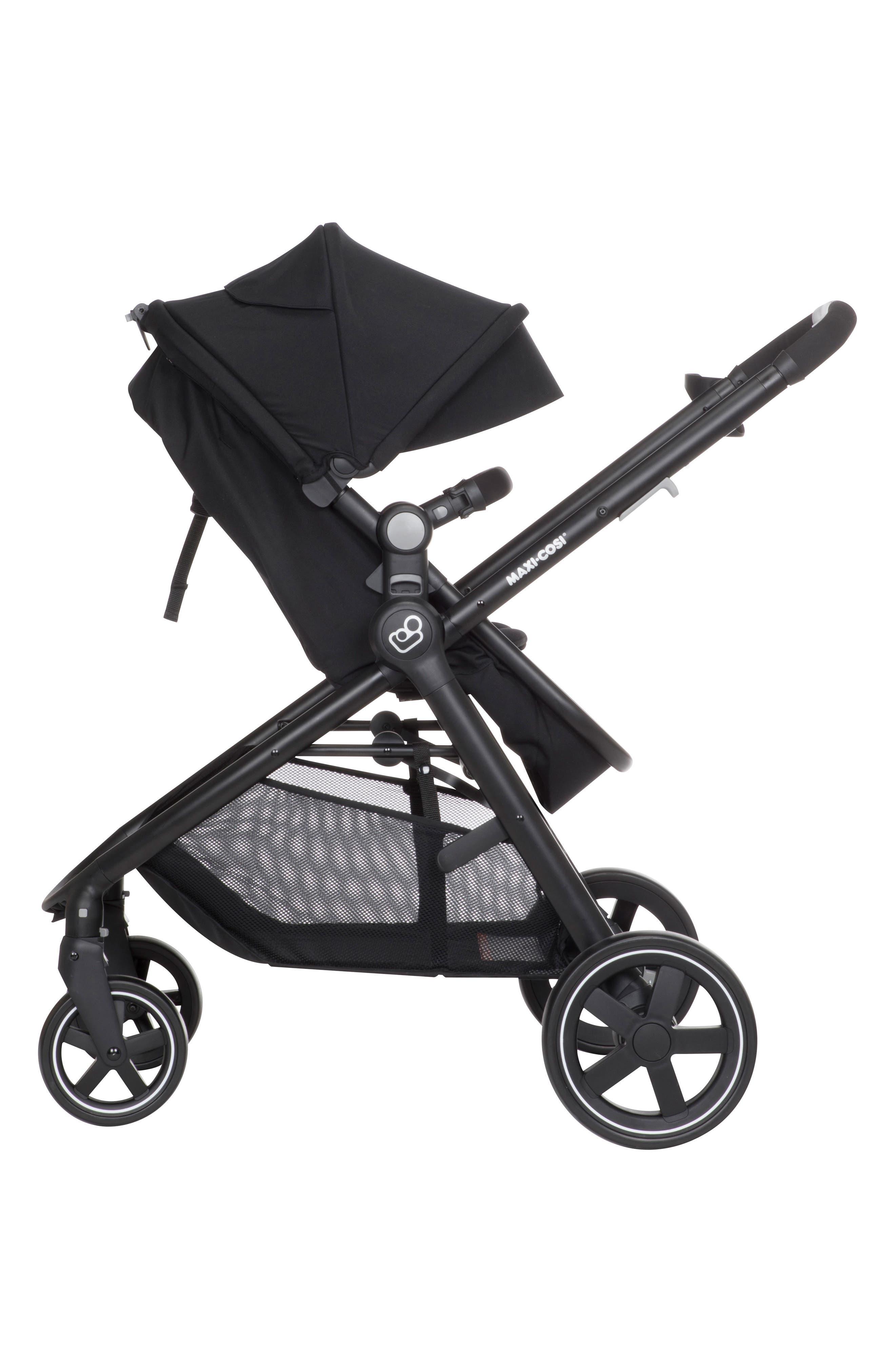 5-1 Mico 30 Infant Car Seat & Zelia Stroller Modular Travel System,                             Alternate thumbnail 10, color,                             NIGHT BLACK