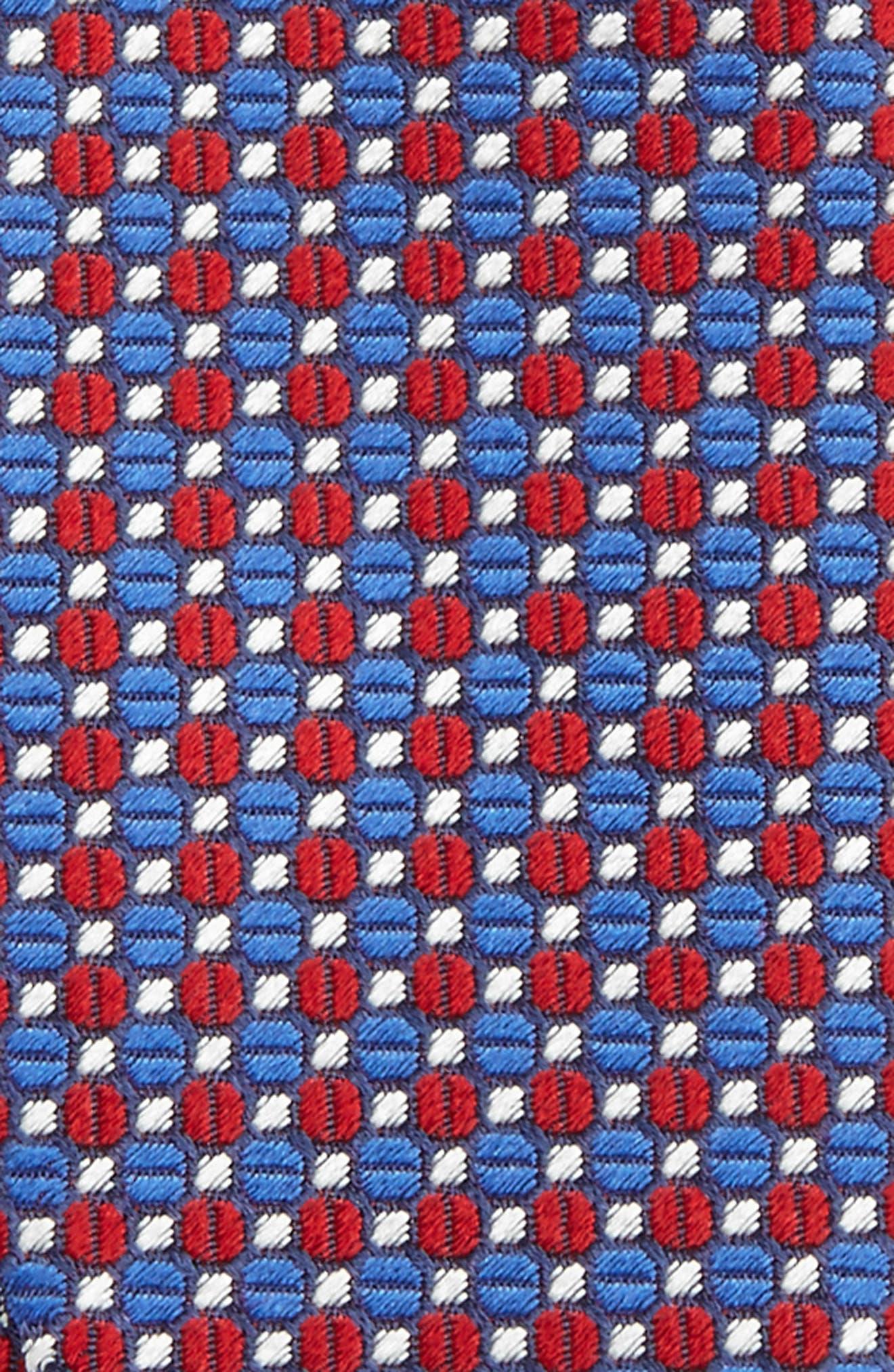 Geometric Silk Bow Tie,                             Alternate thumbnail 8, color,
