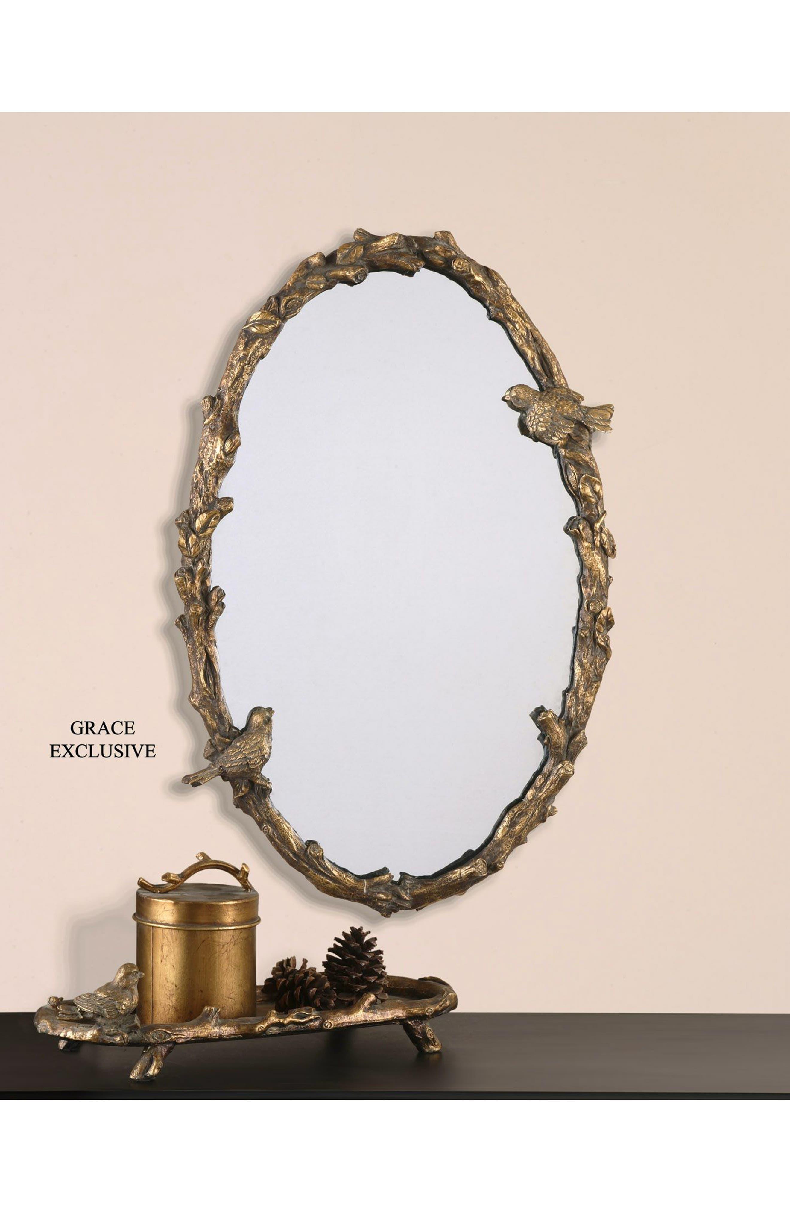 Paza Vine Oval Wall Mirror,                             Alternate thumbnail 2, color,                             710