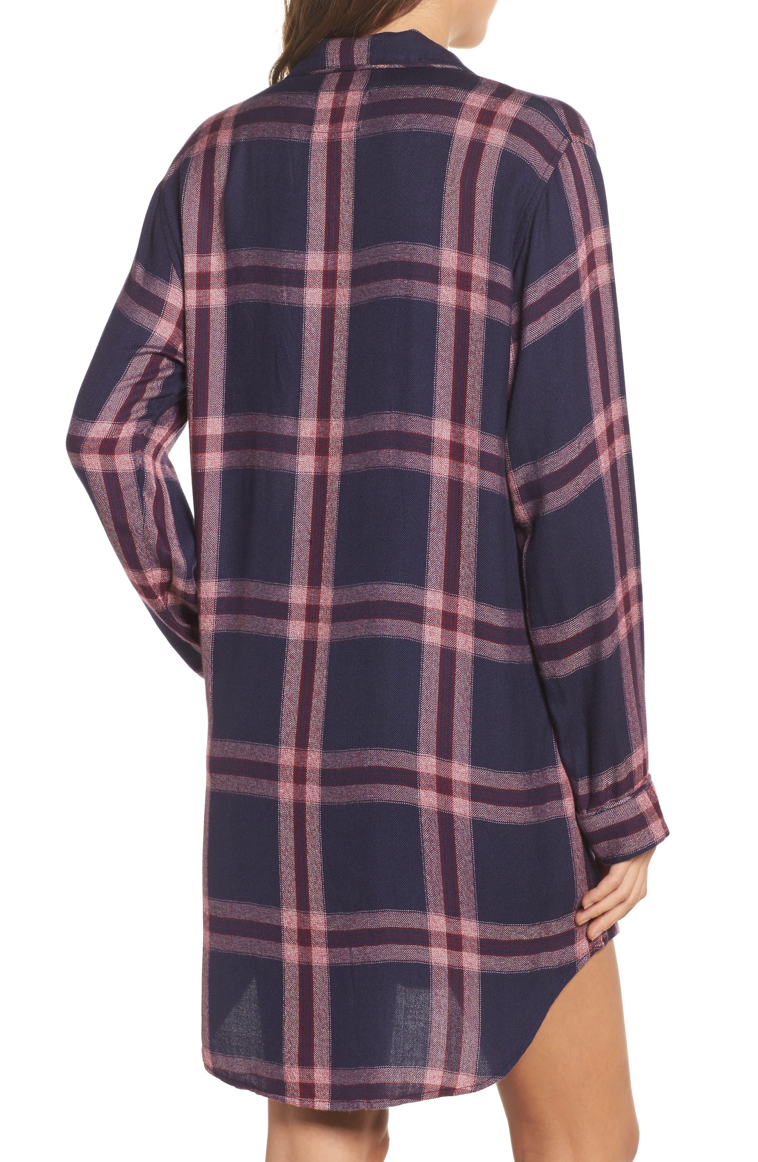 Plaid Sleep Shirt,                             Alternate thumbnail 2, color,