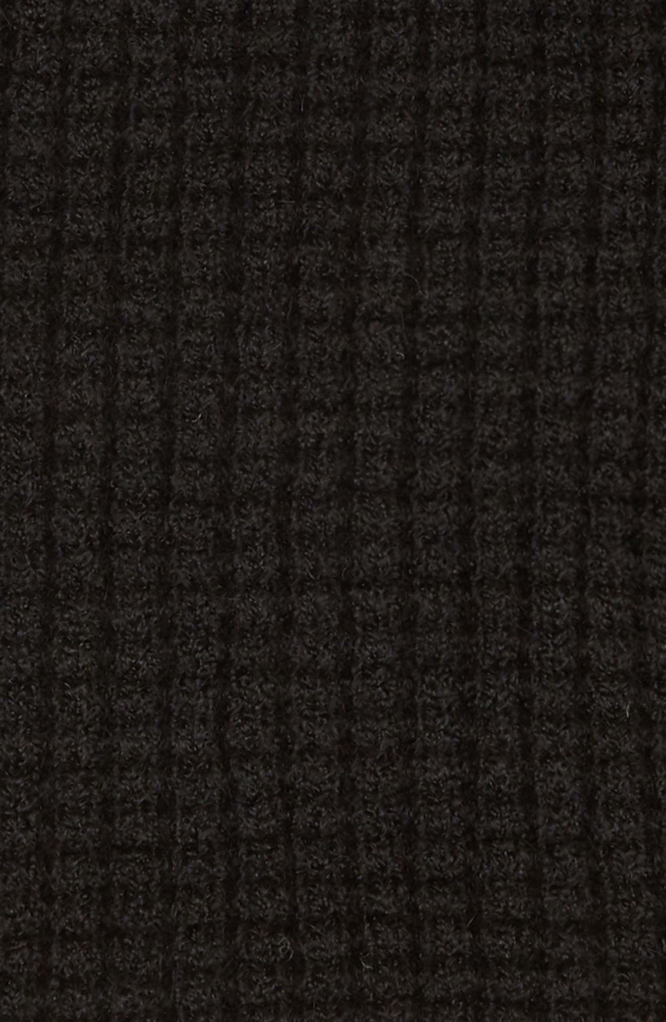 Tiffany Baby Alpaca Infinity Scarf,                             Alternate thumbnail 4, color,                             BLACK