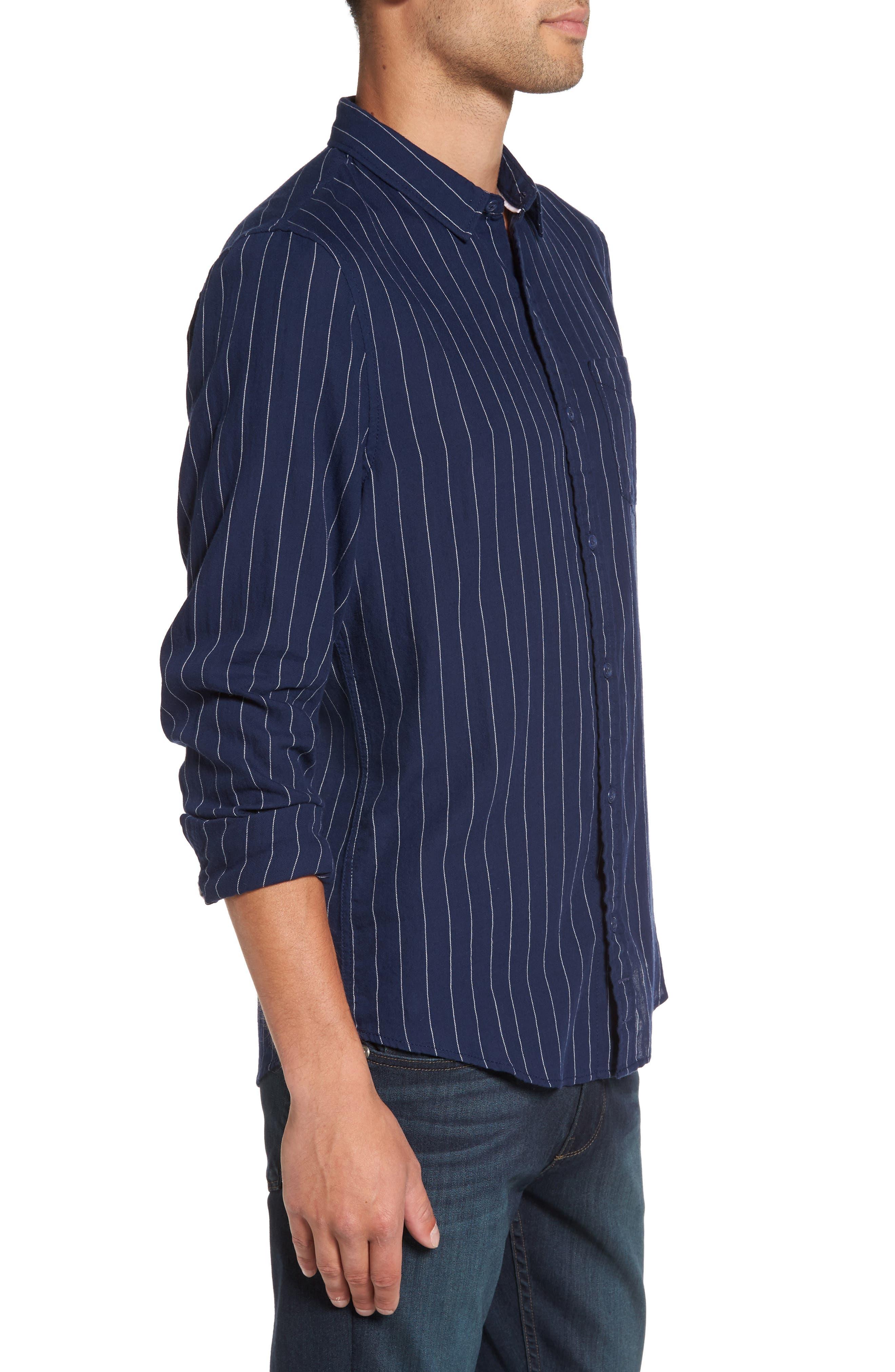 Stripe Twill Shirt,                             Alternate thumbnail 5, color,