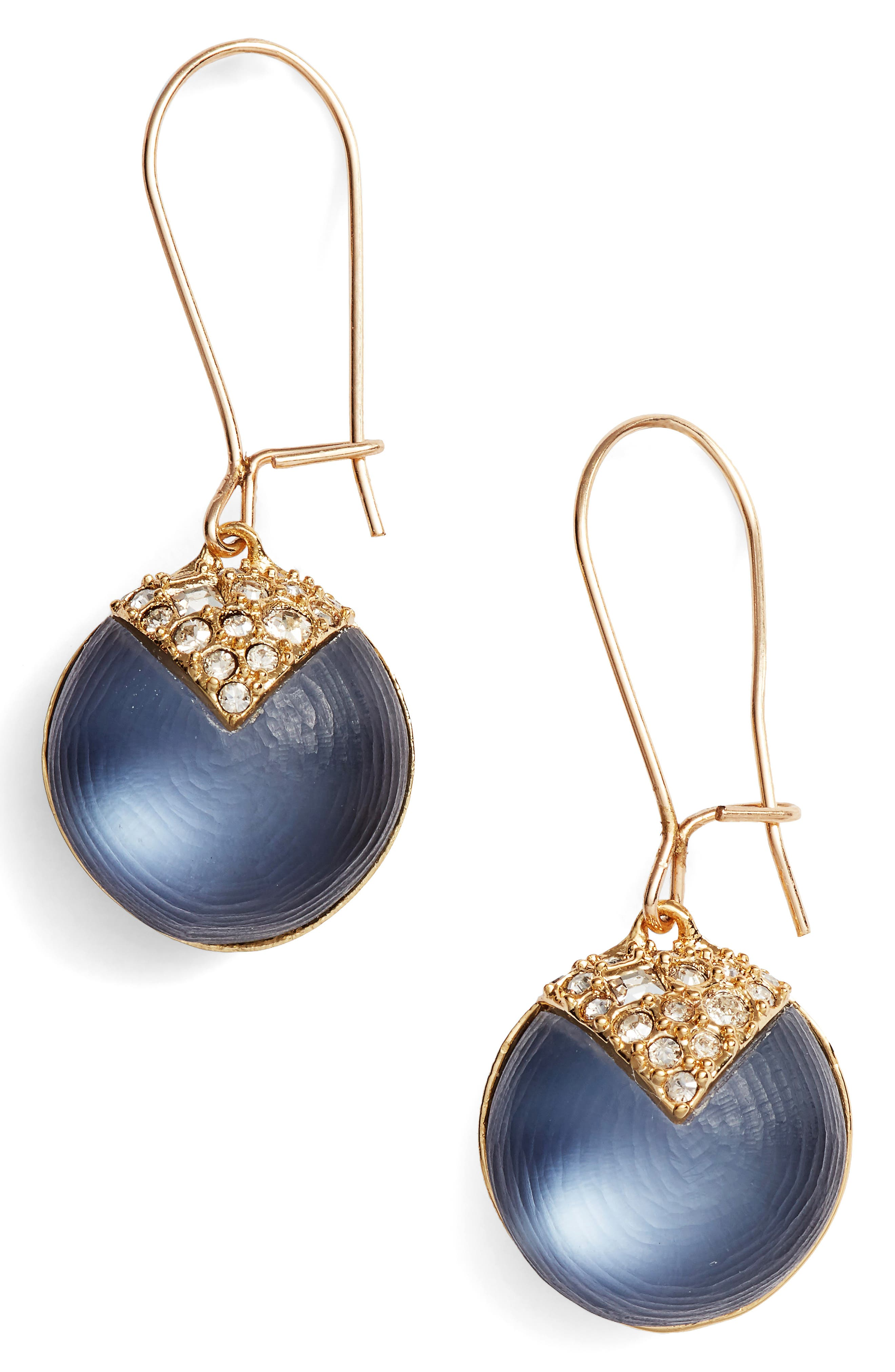 Alex Bittar Crystal Encrusted Lucite<sup>®</sup> Sphere Drop Earrings,                             Main thumbnail 2, color,
