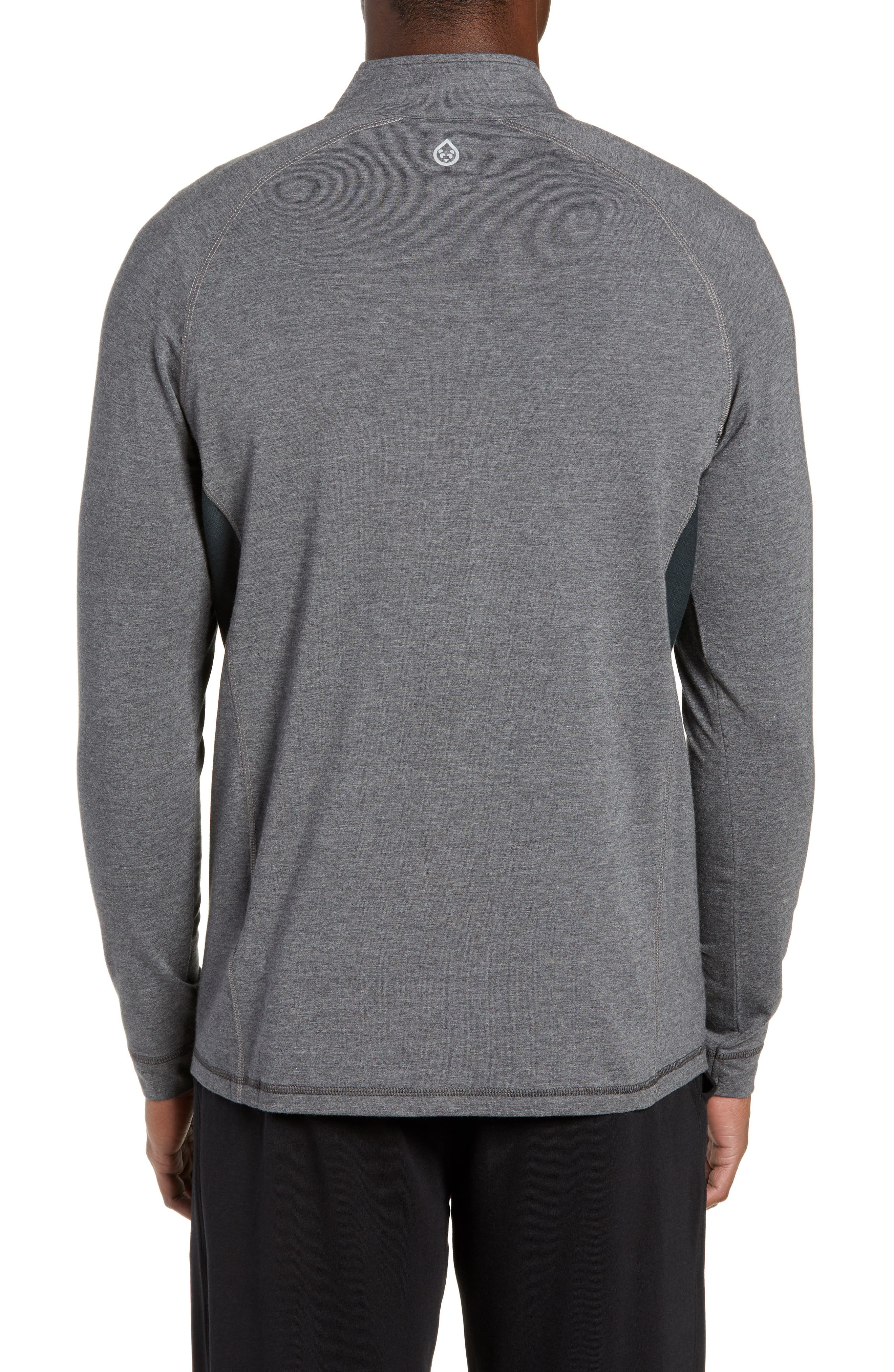 Charge II Half Zip Pullover,                             Alternate thumbnail 2, color,                             BLACK HEATHER