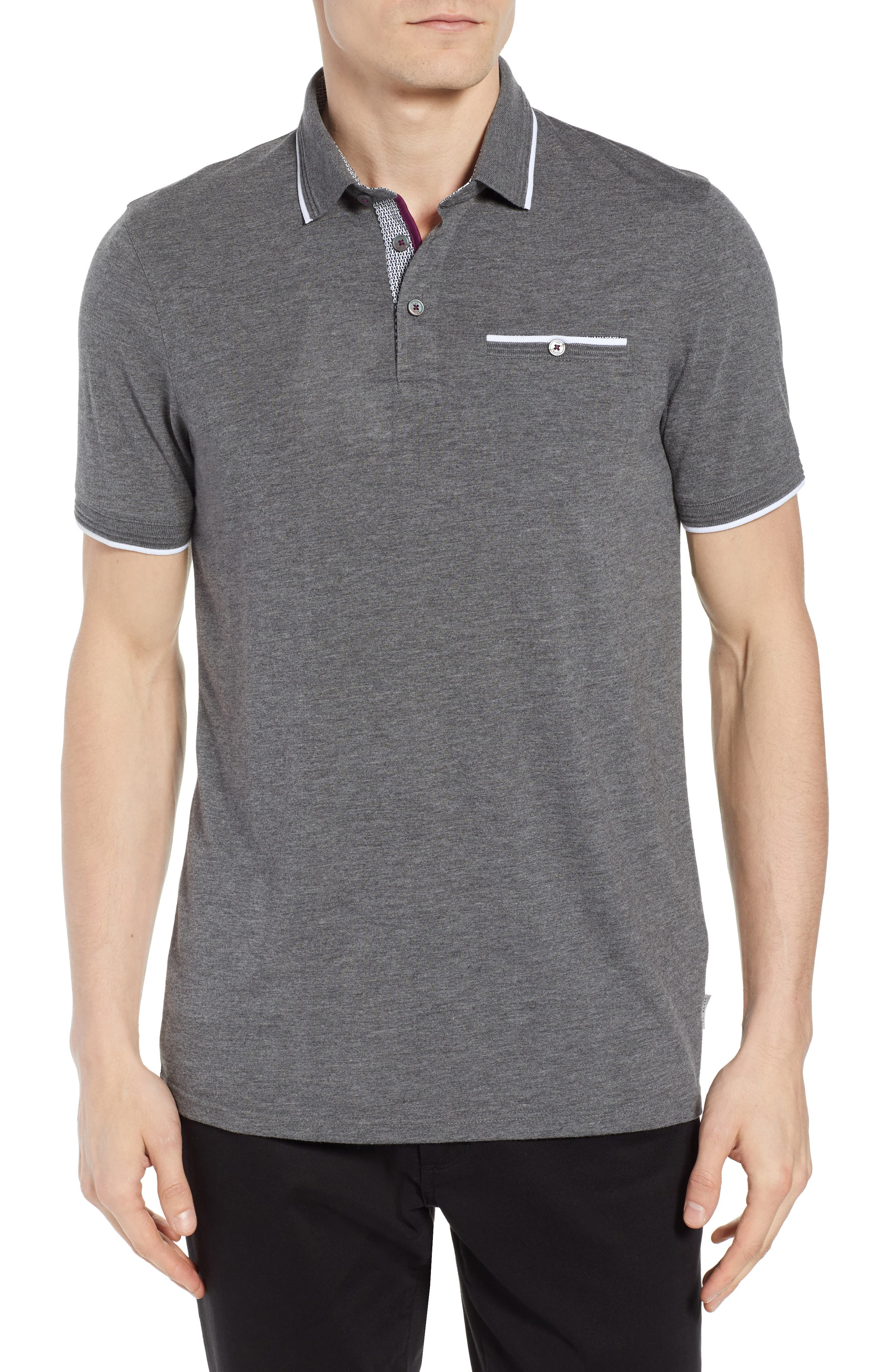Derry Modern Slim Fit Polo,                             Main thumbnail 1, color,                             021