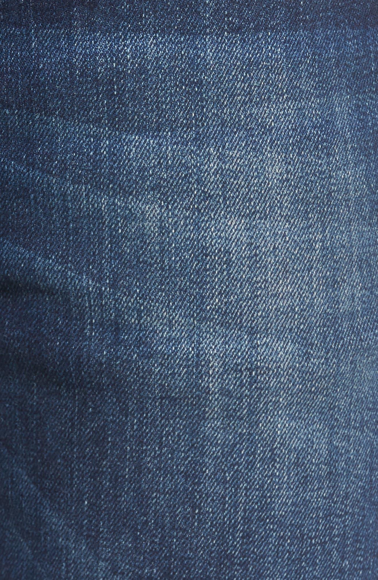 Derbyshire Slim Fit Jeans,                             Alternate thumbnail 5, color,                             DENIM