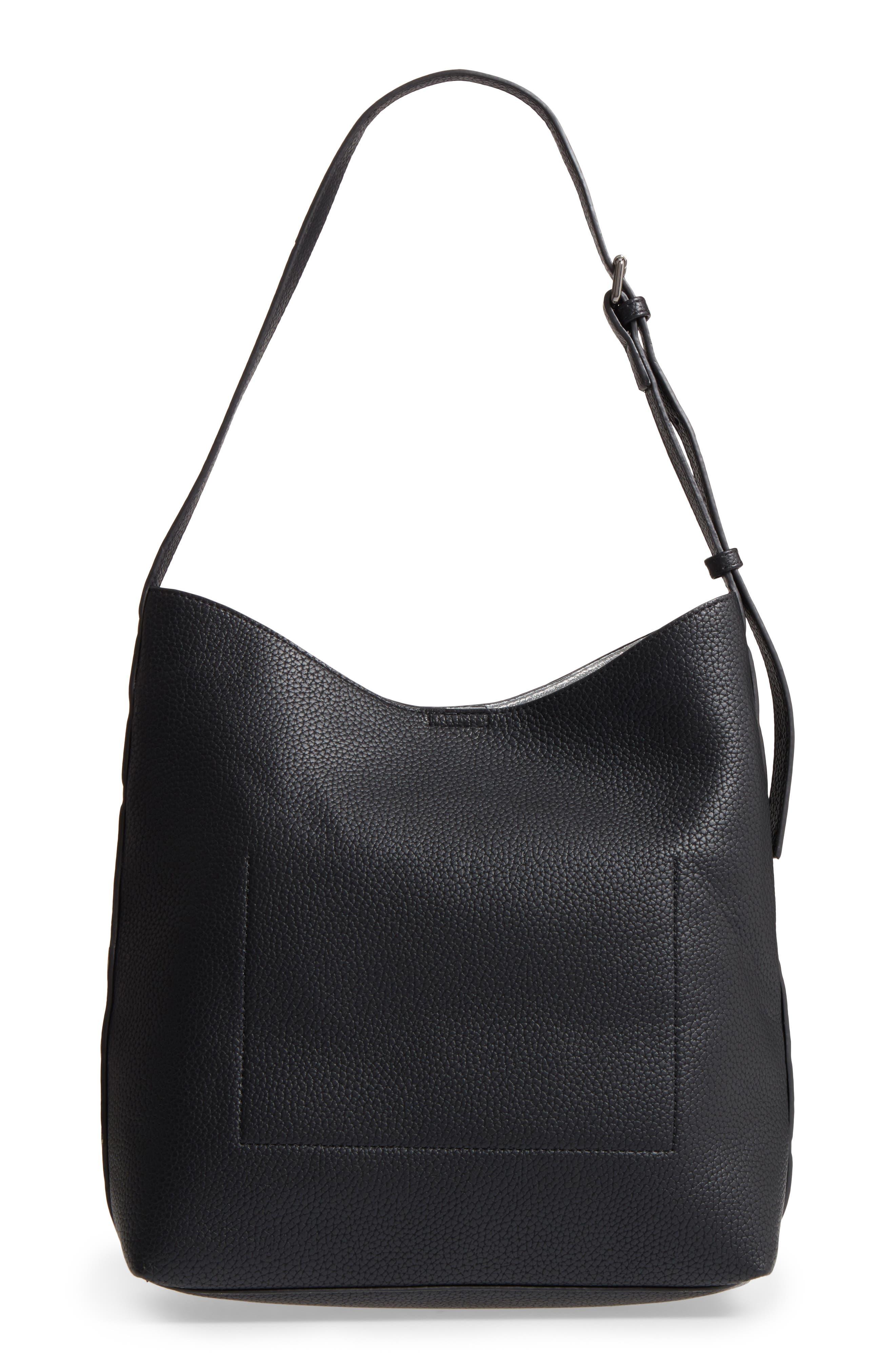Samara Faux Leather Shoulder Bag,                             Alternate thumbnail 3, color,                             001