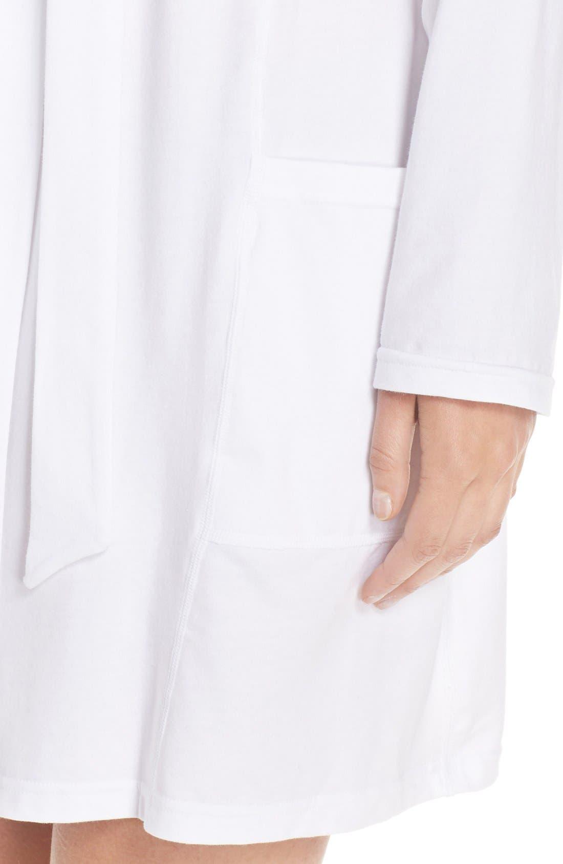 Stretch Cotton Robe,                             Alternate thumbnail 8, color,