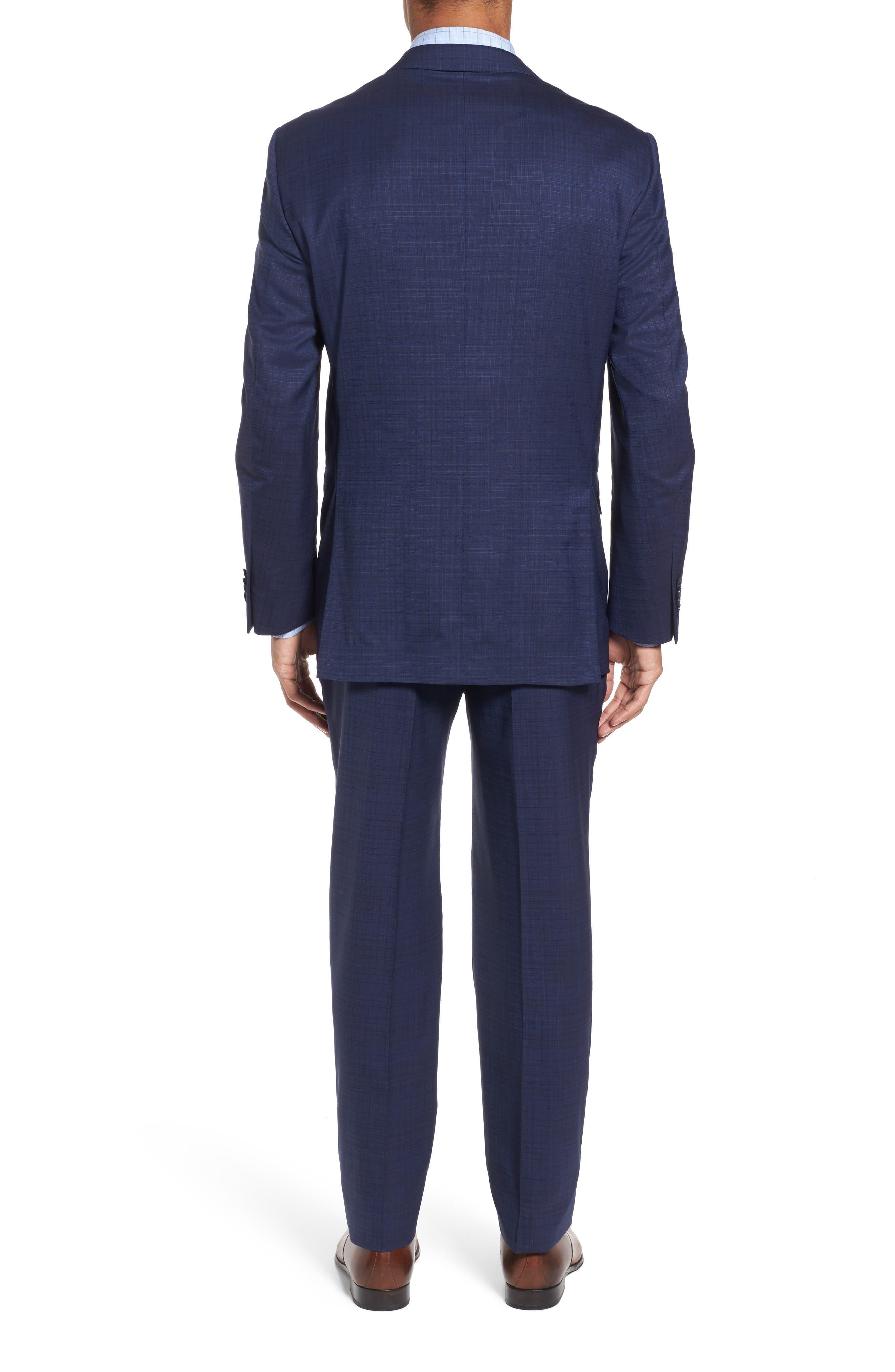Classic Fit Check Wool Suit,                             Alternate thumbnail 2, color,                             400