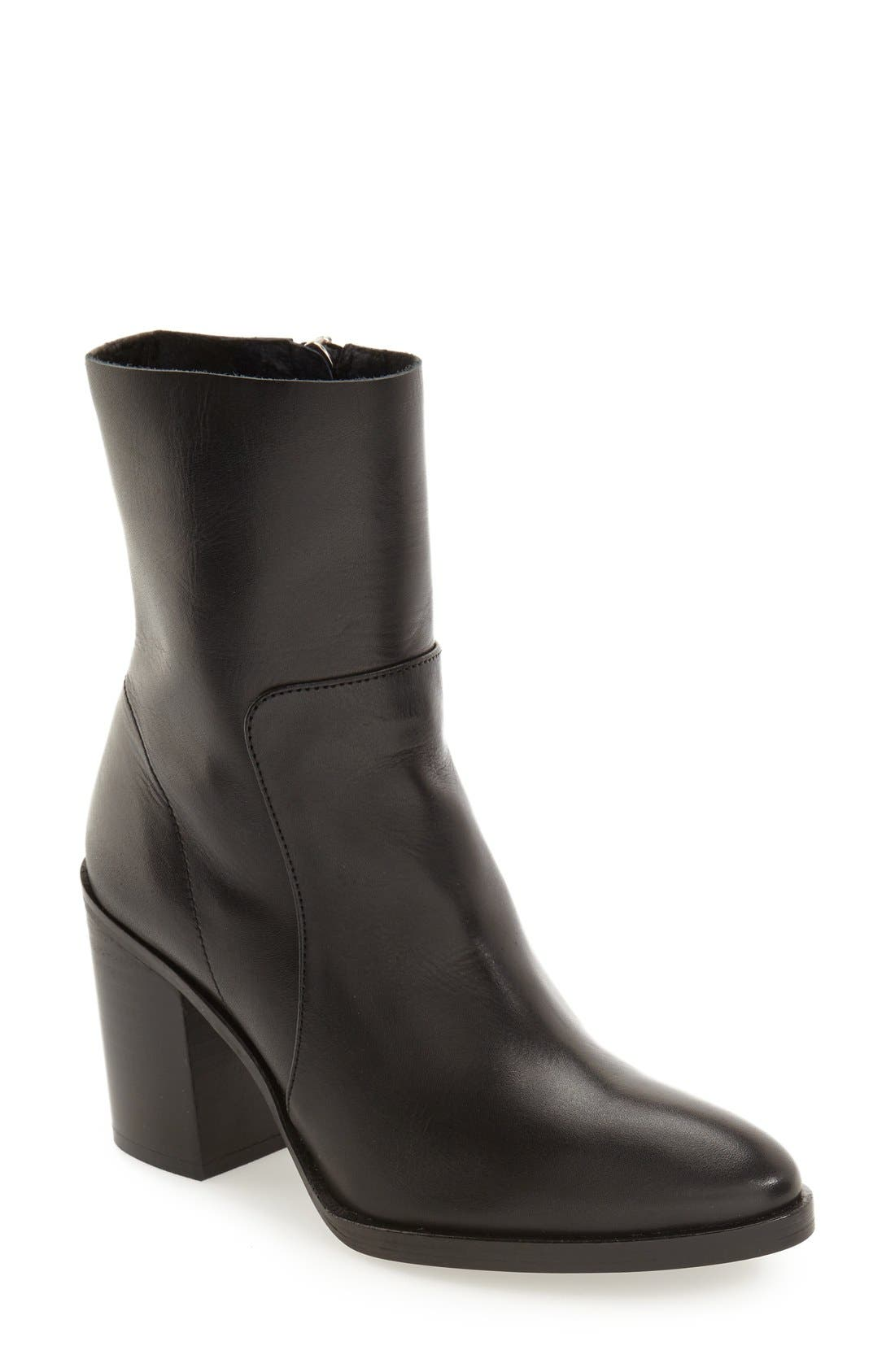 'Million' Pointy Toe Zip Boot,                         Main,                         color, 001