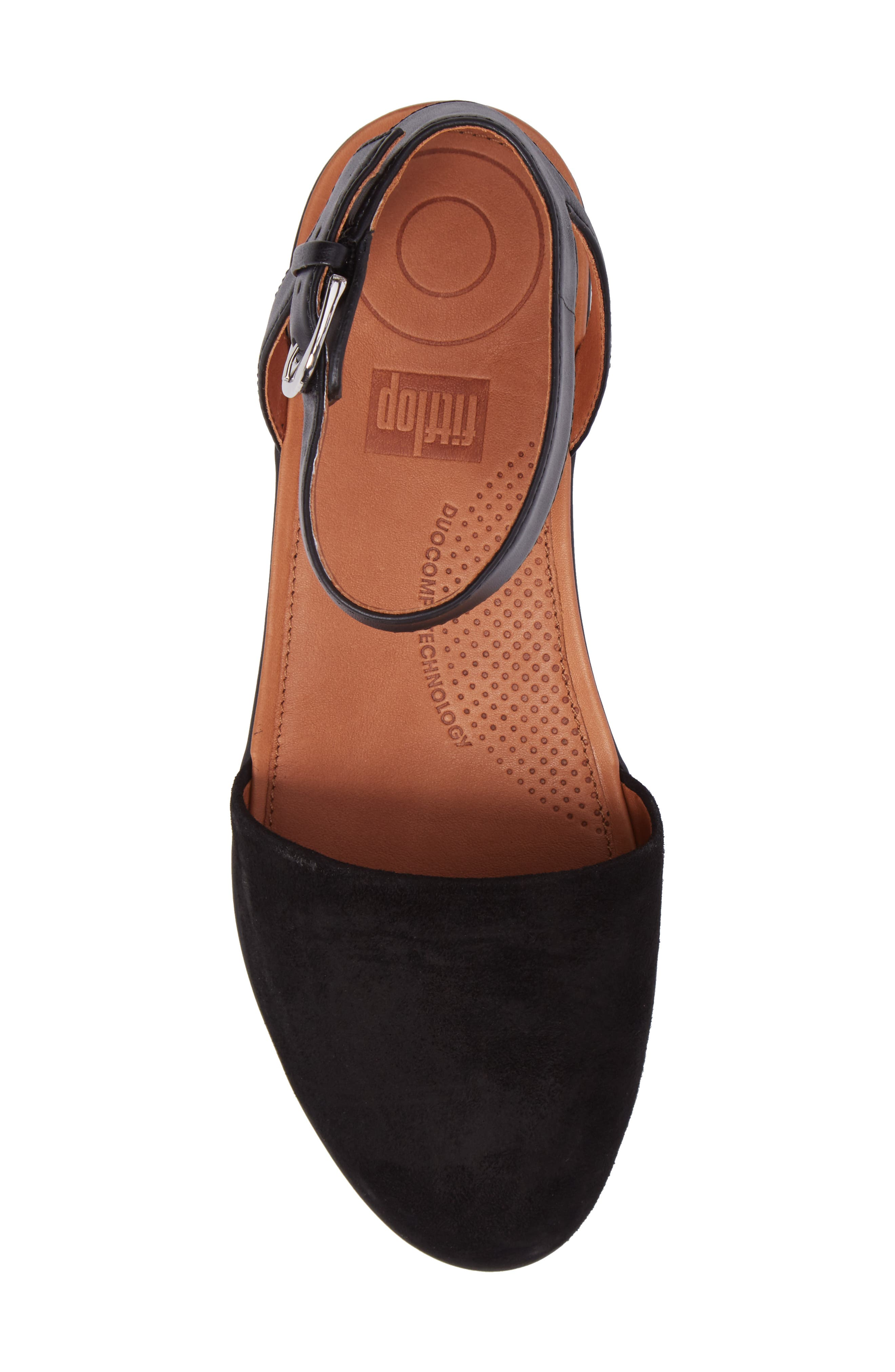 Cova Ankle Strap Sandal,                             Alternate thumbnail 5, color,                             001