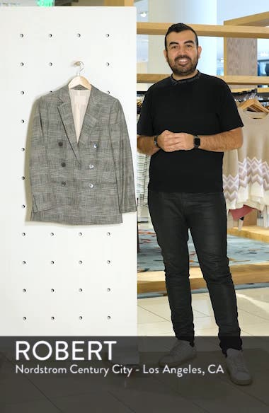 Double Breasted Plaid Blazer, sales video thumbnail
