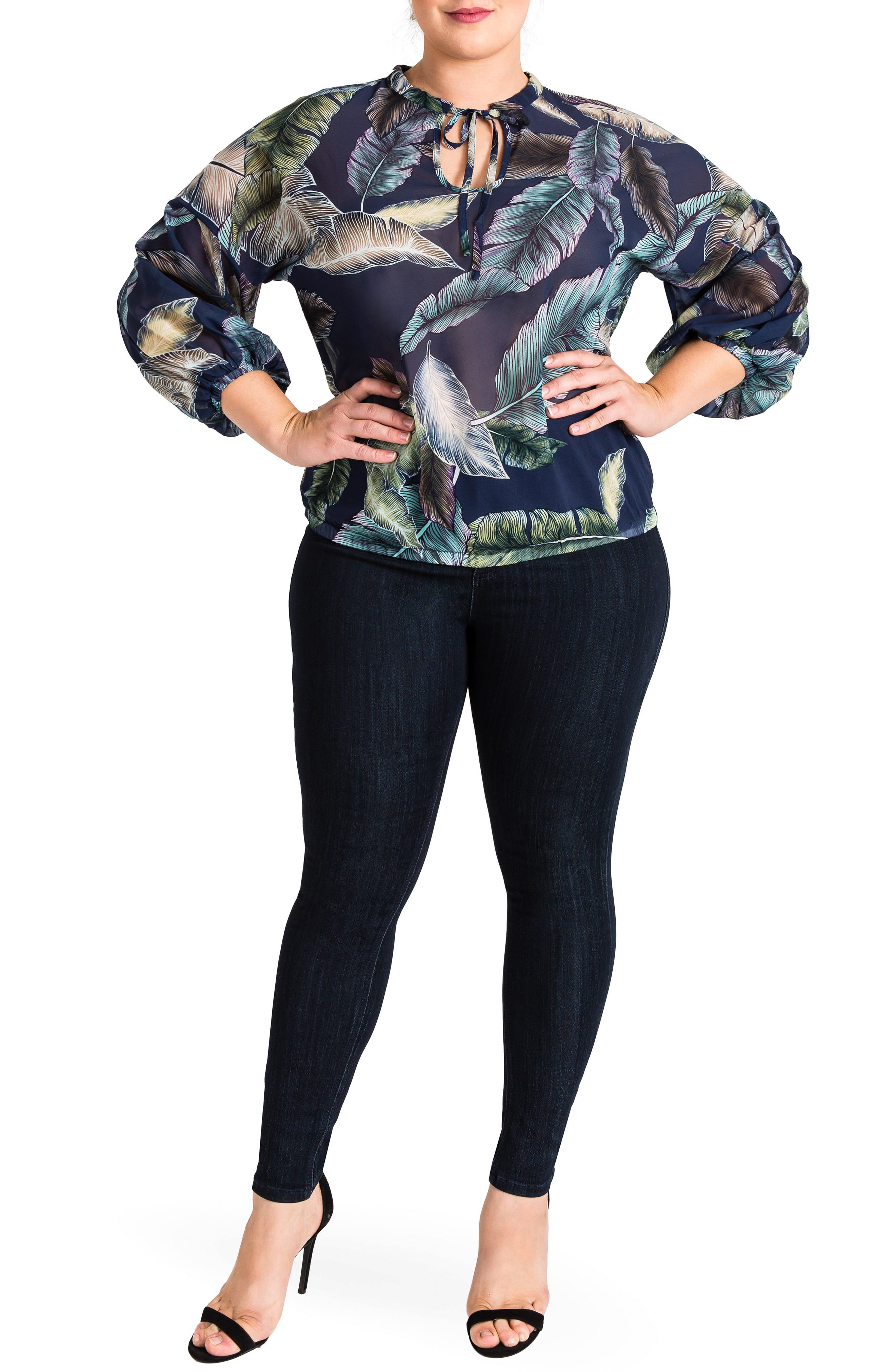 Lizzy Print Top,                             Alternate thumbnail 4, color,                             950