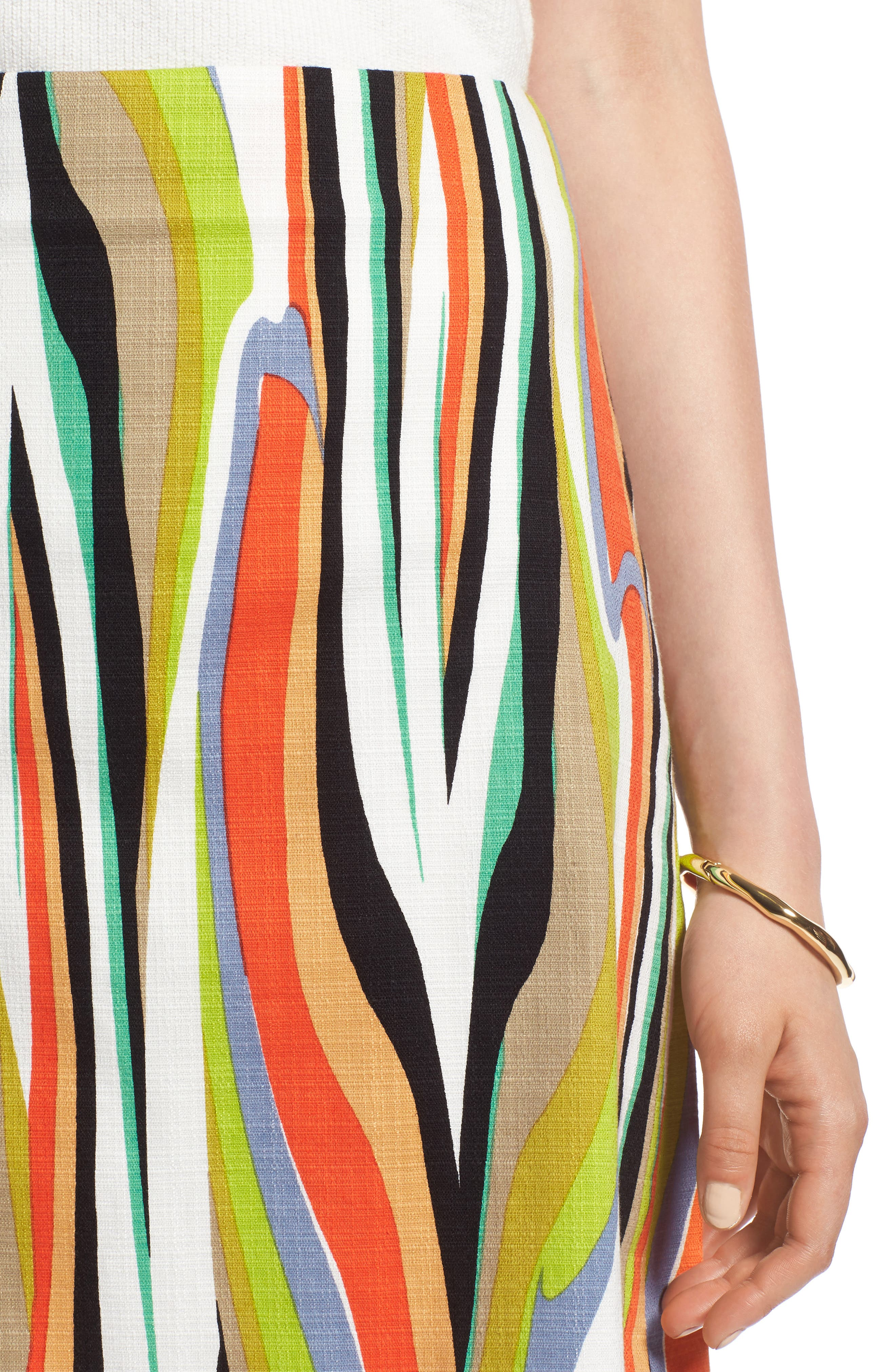 Stripe Skirt,                             Alternate thumbnail 4, color,                             900