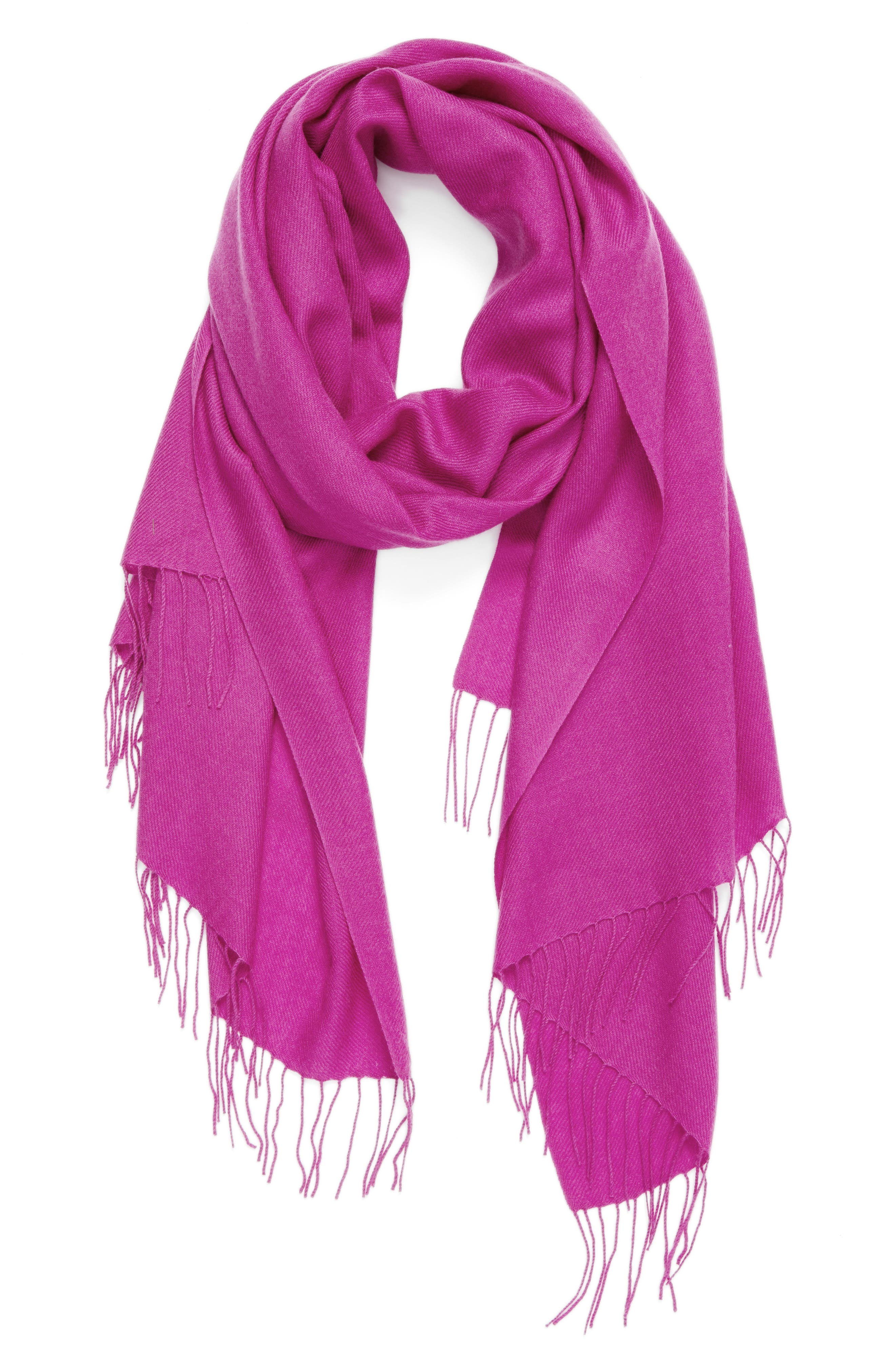 Tissue Weight Wool & Cashmere Scarf,                             Alternate thumbnail 120, color,