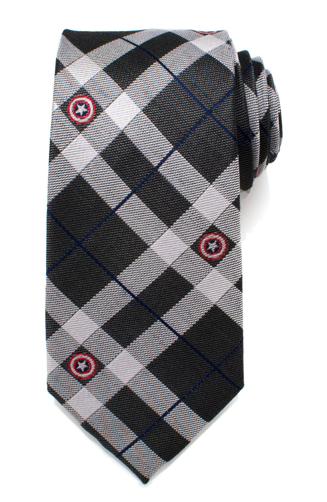 'Captain America' Silk Tie,                             Main thumbnail 1, color,                             960