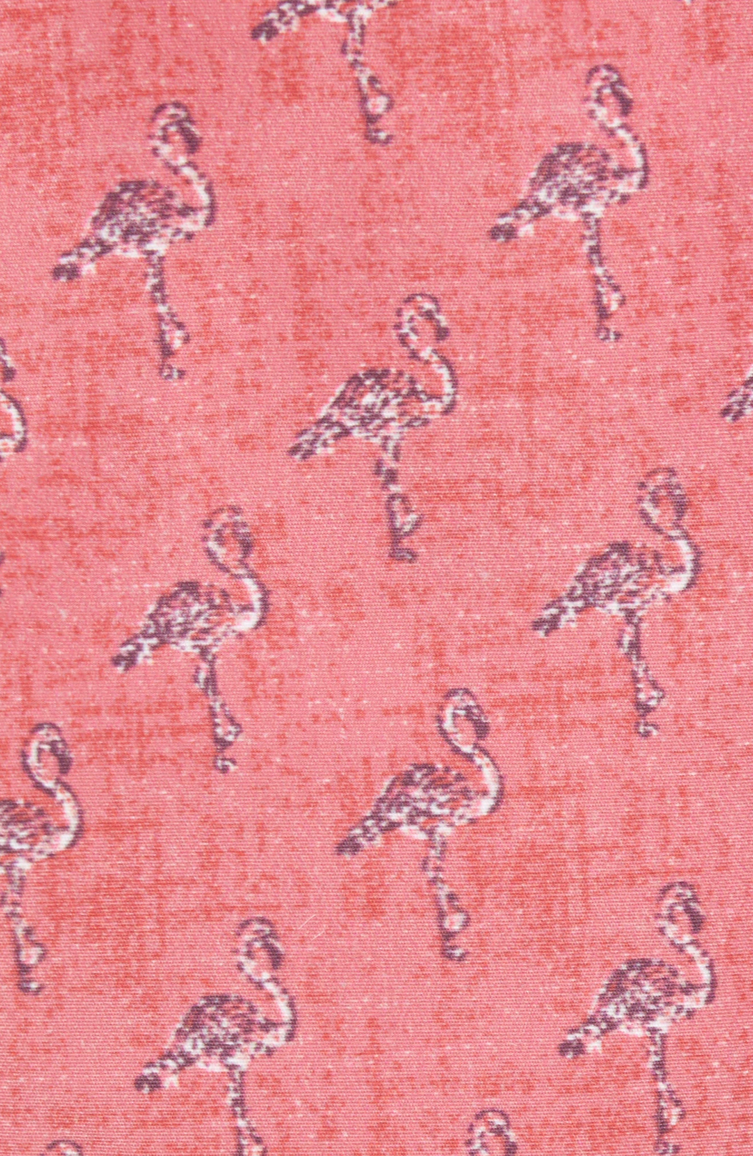 Dryden Regular Fit Print Swim Trunks,                             Alternate thumbnail 5, color,                             POMEGRANATE
