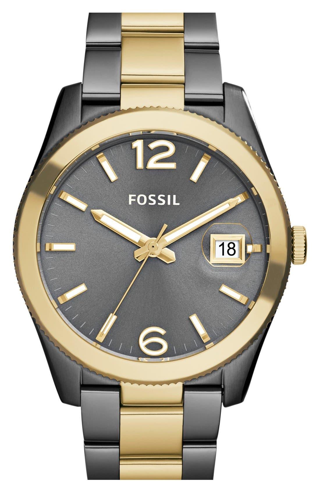 FOSSIL,                             Perfect Boyfriend Bracelet Watch, 39mm,                             Main thumbnail 1, color,                             020