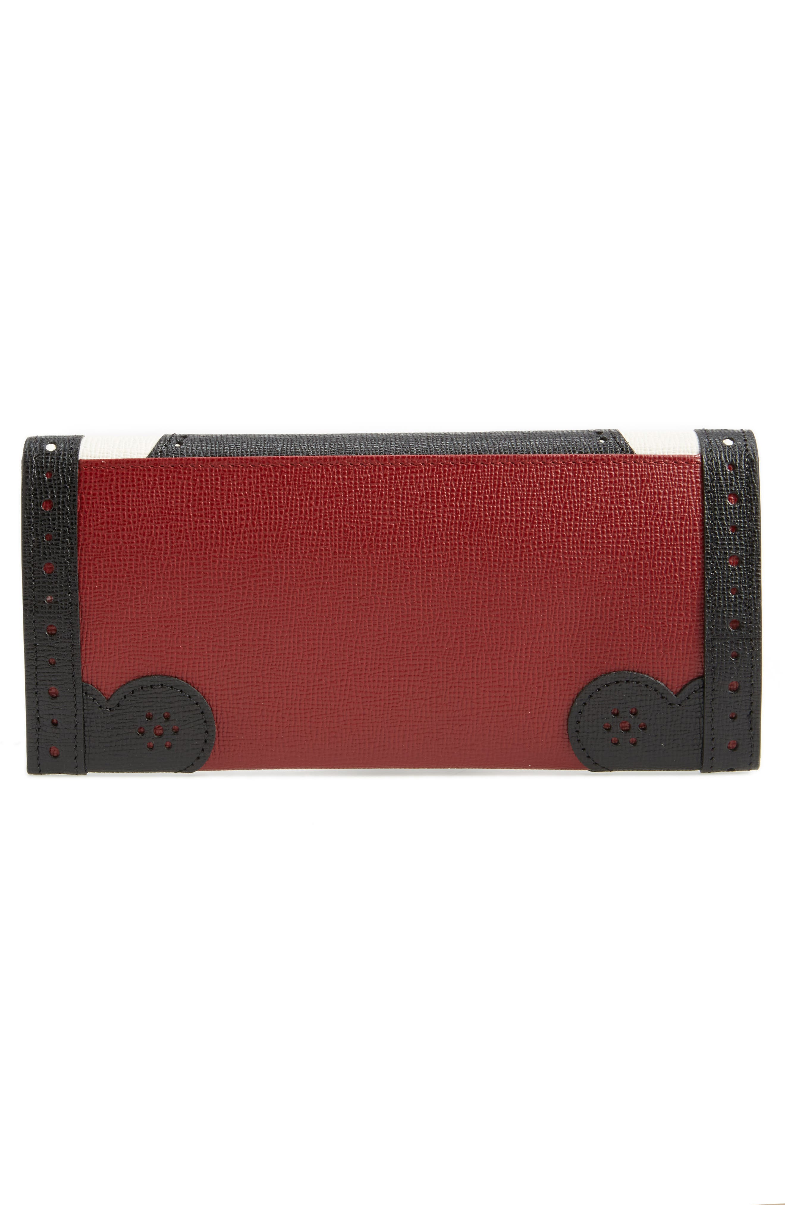 Effrontée Leather Wallet,                             Alternate thumbnail 3, color,                             618